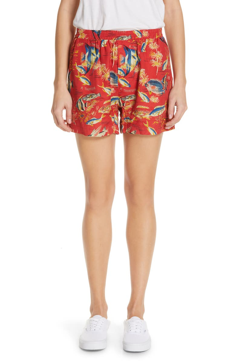R13 Shorts PRINT BOXER SHORTS
