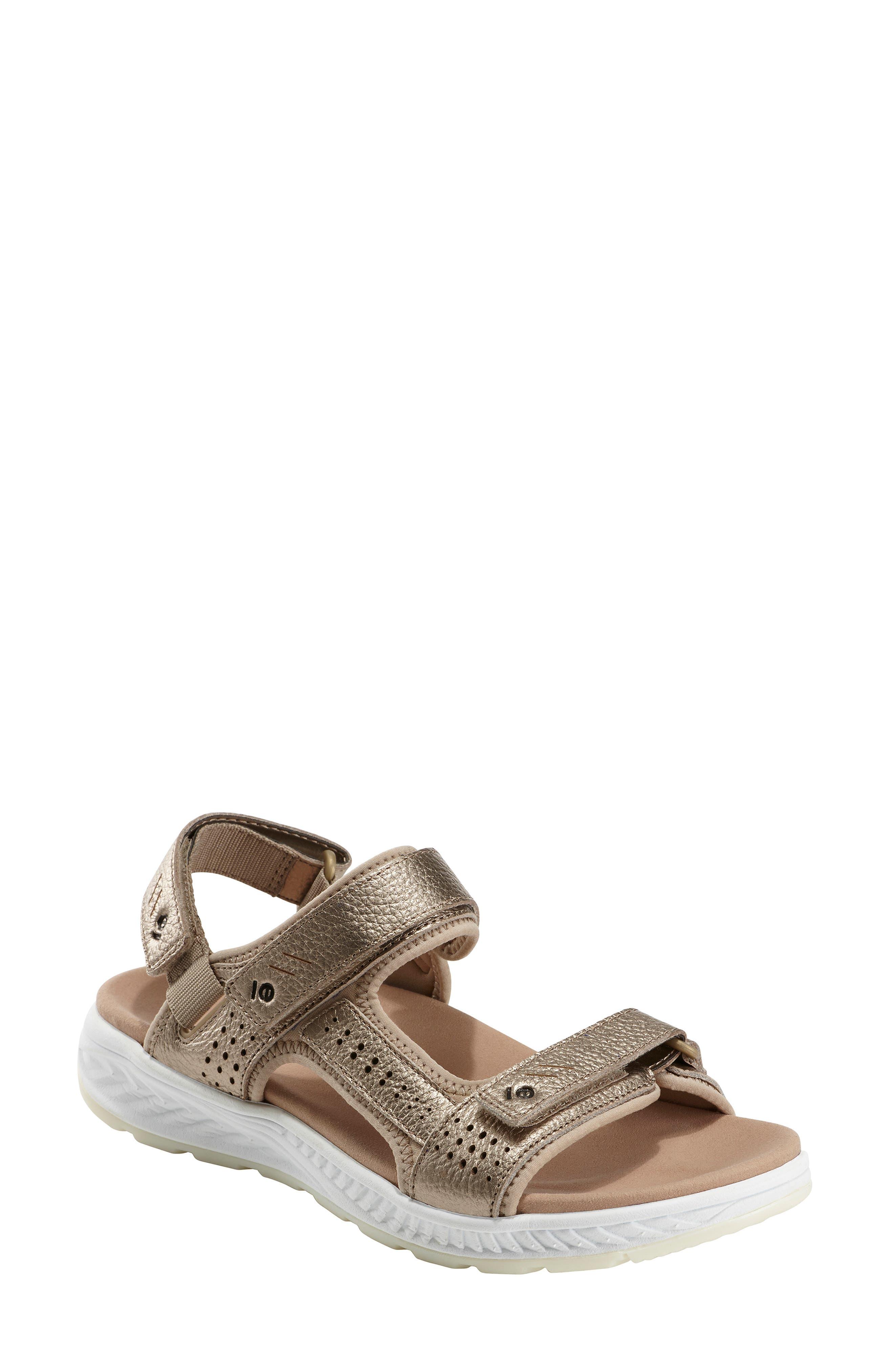 Earth Azore Sandal, Metallic
