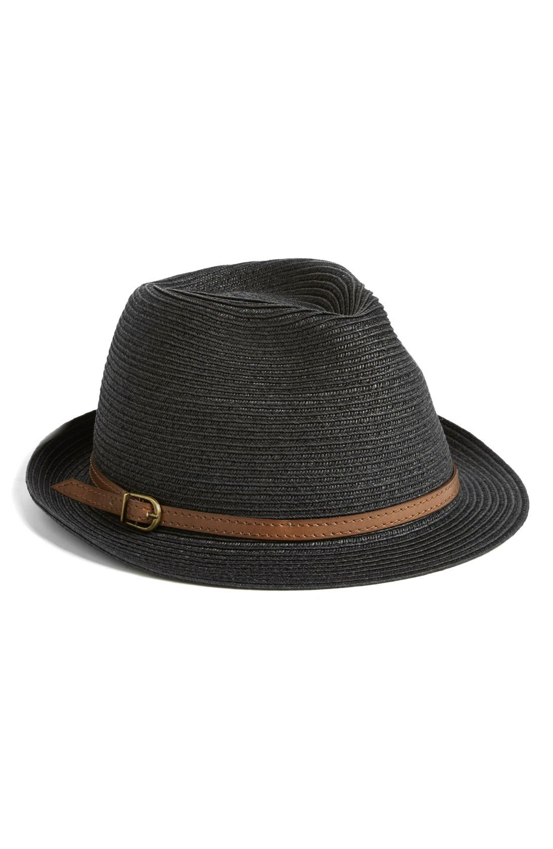 NORDSTROM, 'Stone Washed' Fedora, Main thumbnail 1, color, 001