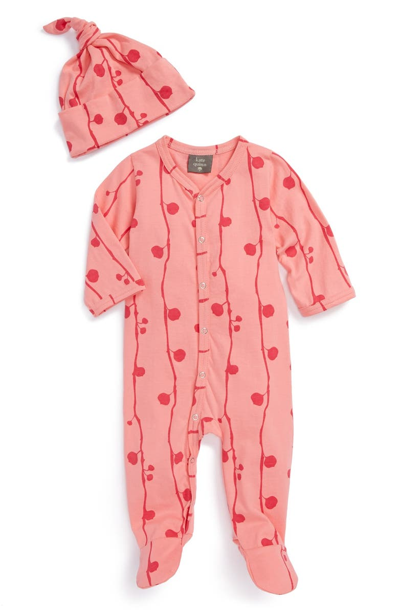 fe83c7d29 Kate Quinn Organics 'Knot Just a Hat' One-Piece & Hat Set (Baby ...