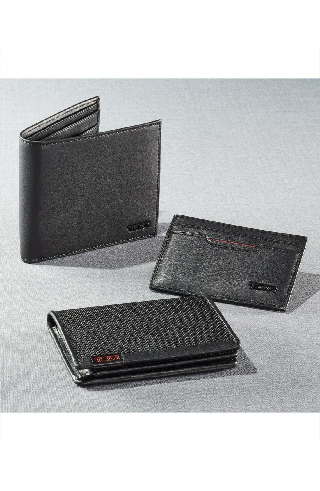 TUMI, Delta Global - ID Lock<sup>™</sup> Shielded Center Flip ID Passcase, Alternate thumbnail 5, color, BLACK