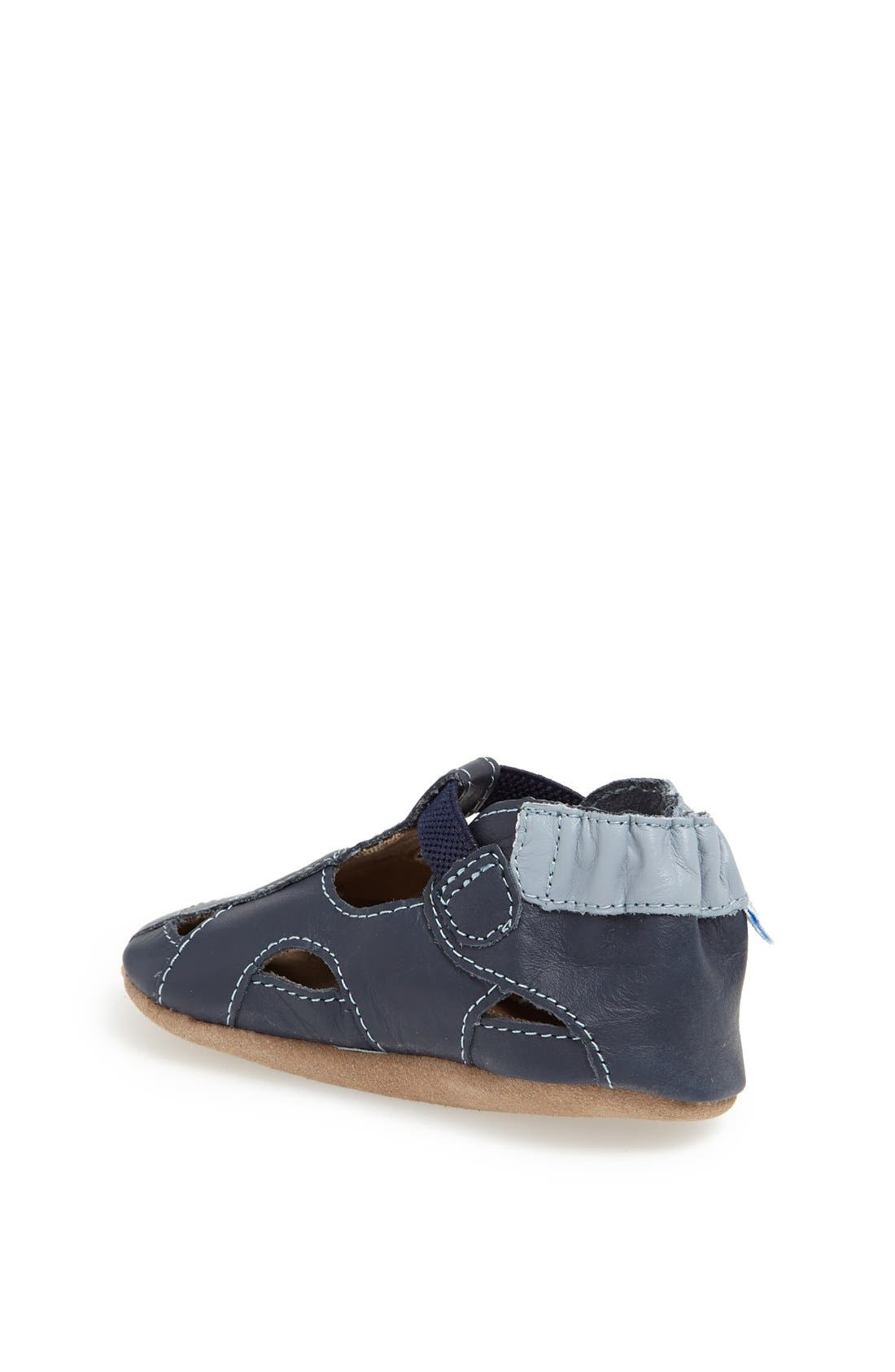 ROBEEZ<SUP>®</SUP>, Fisherman Sandal, Alternate thumbnail 3, color, NAVY