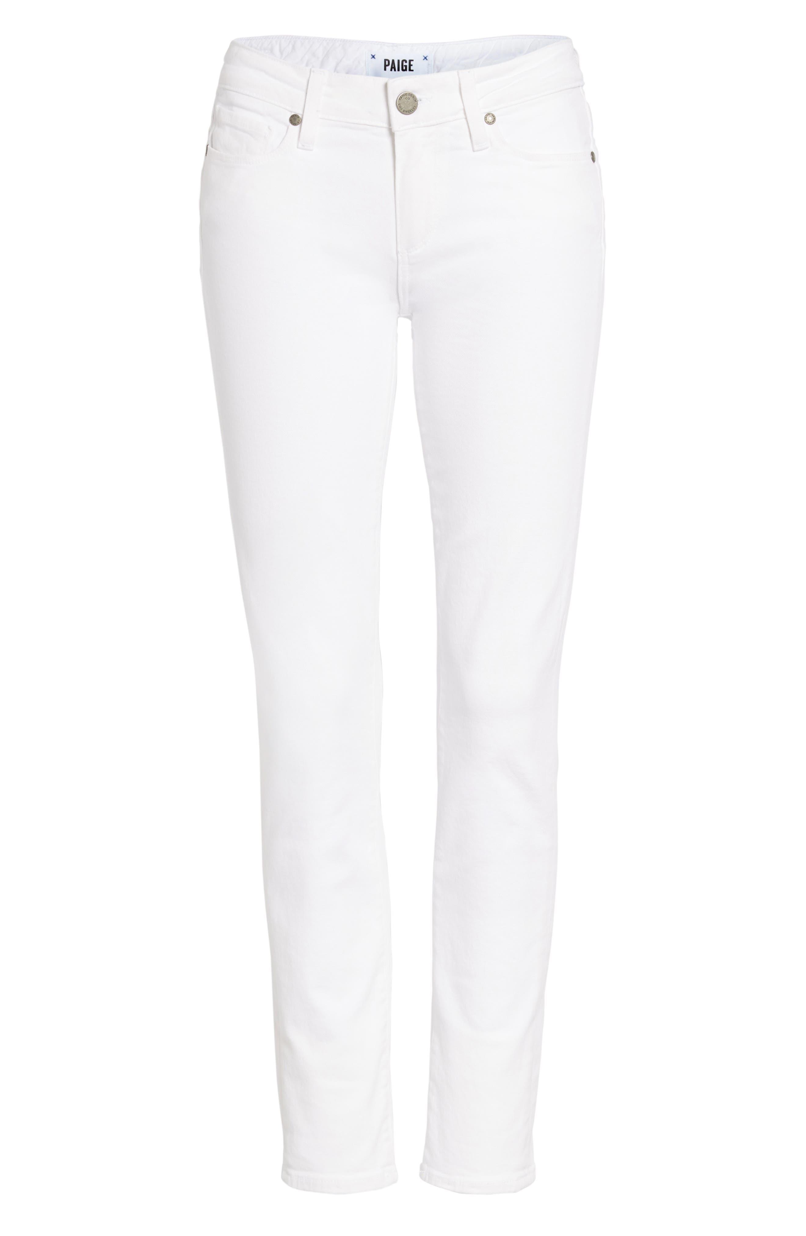 PAIGE, 'Skyline' Ankle Peg Skinny Jeans, Alternate thumbnail 7, color, 100