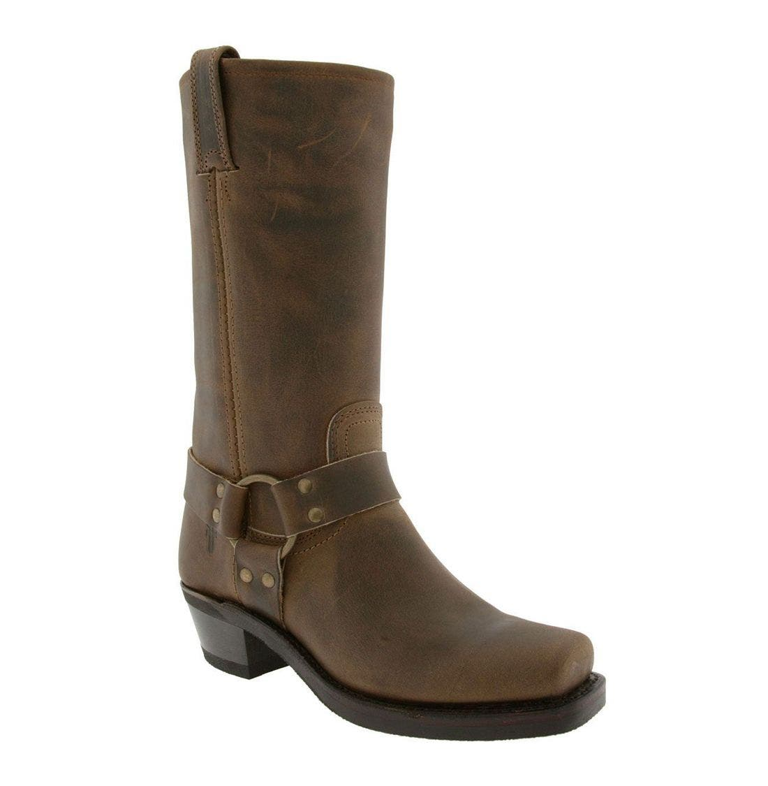 FRYE, 'Harness 12R' Leather Boot, Main thumbnail 1, color, TAN