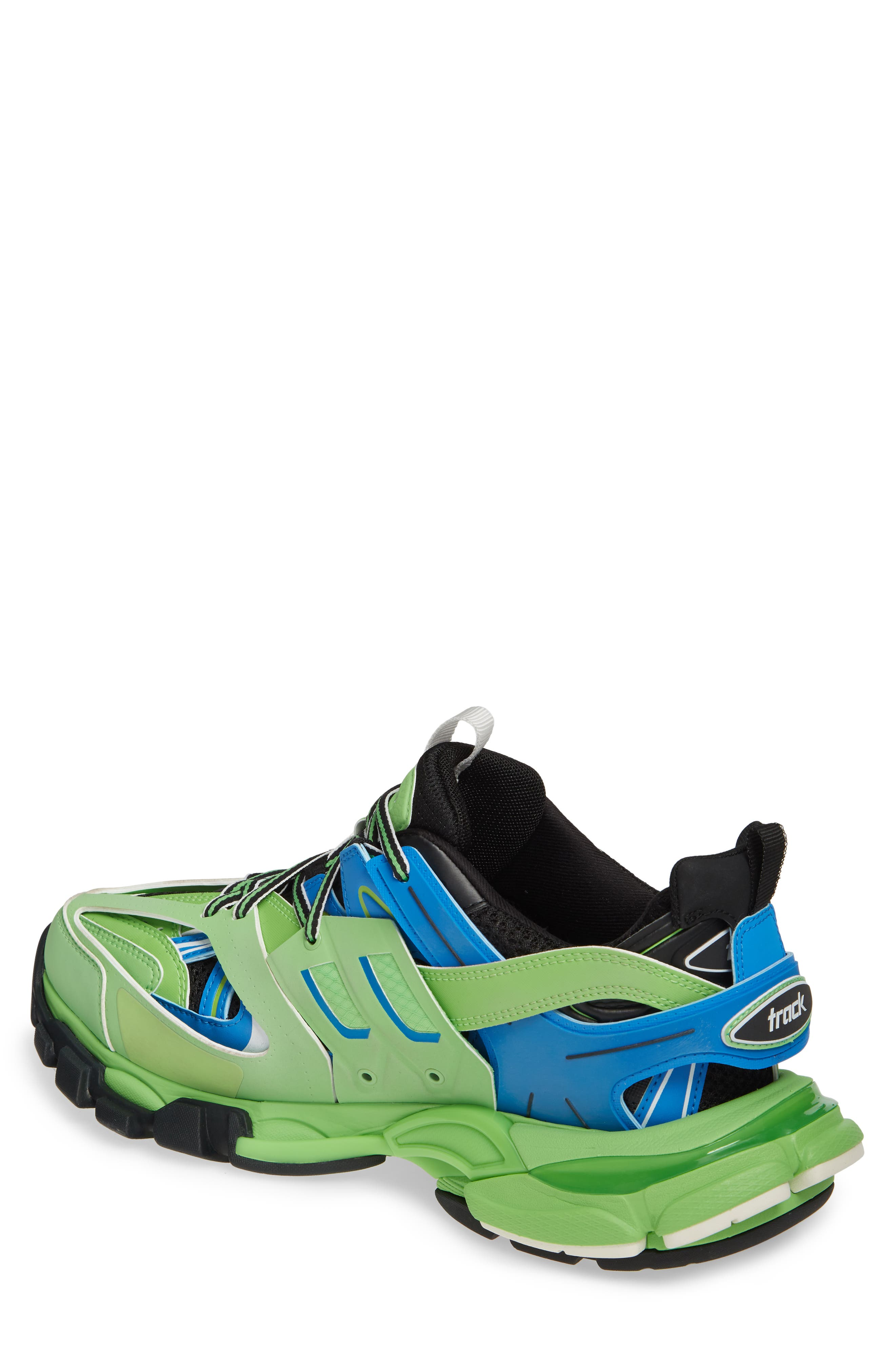 BALENCIAGA, Track Sneaker, Alternate thumbnail 2, color, 4078 BLUE/ GREEN