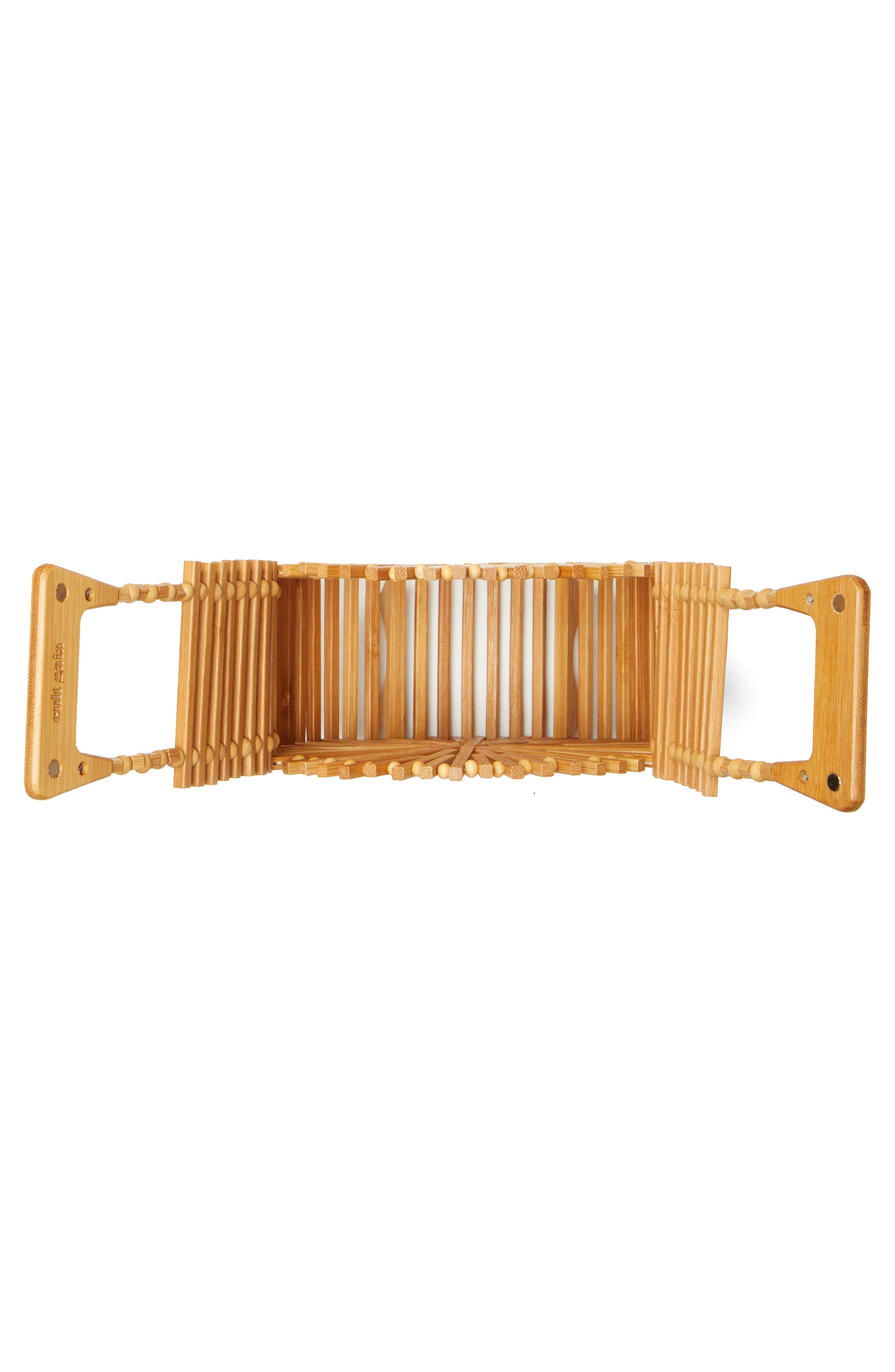 CULT GAIA, Zaha Top Handle Bamboo Bag, Alternate thumbnail 4, color, TAN NATURAL