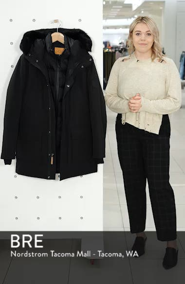 Butte Water-Resistant Down Parka with Genuine Shearling Trim, sales video thumbnail