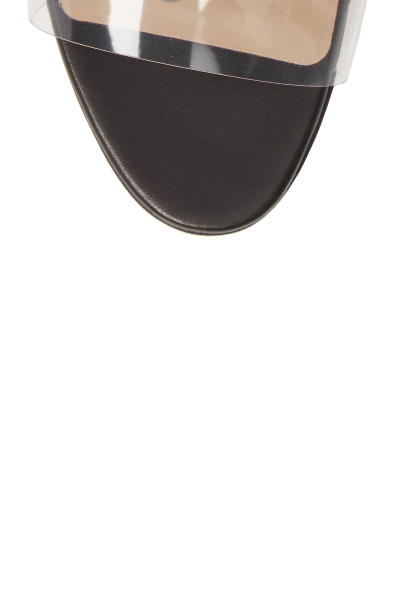 MANOLO BLAHNIK, Estro Ankle Tie Sandal, Alternate thumbnail 5, color, BLACK LEATHER