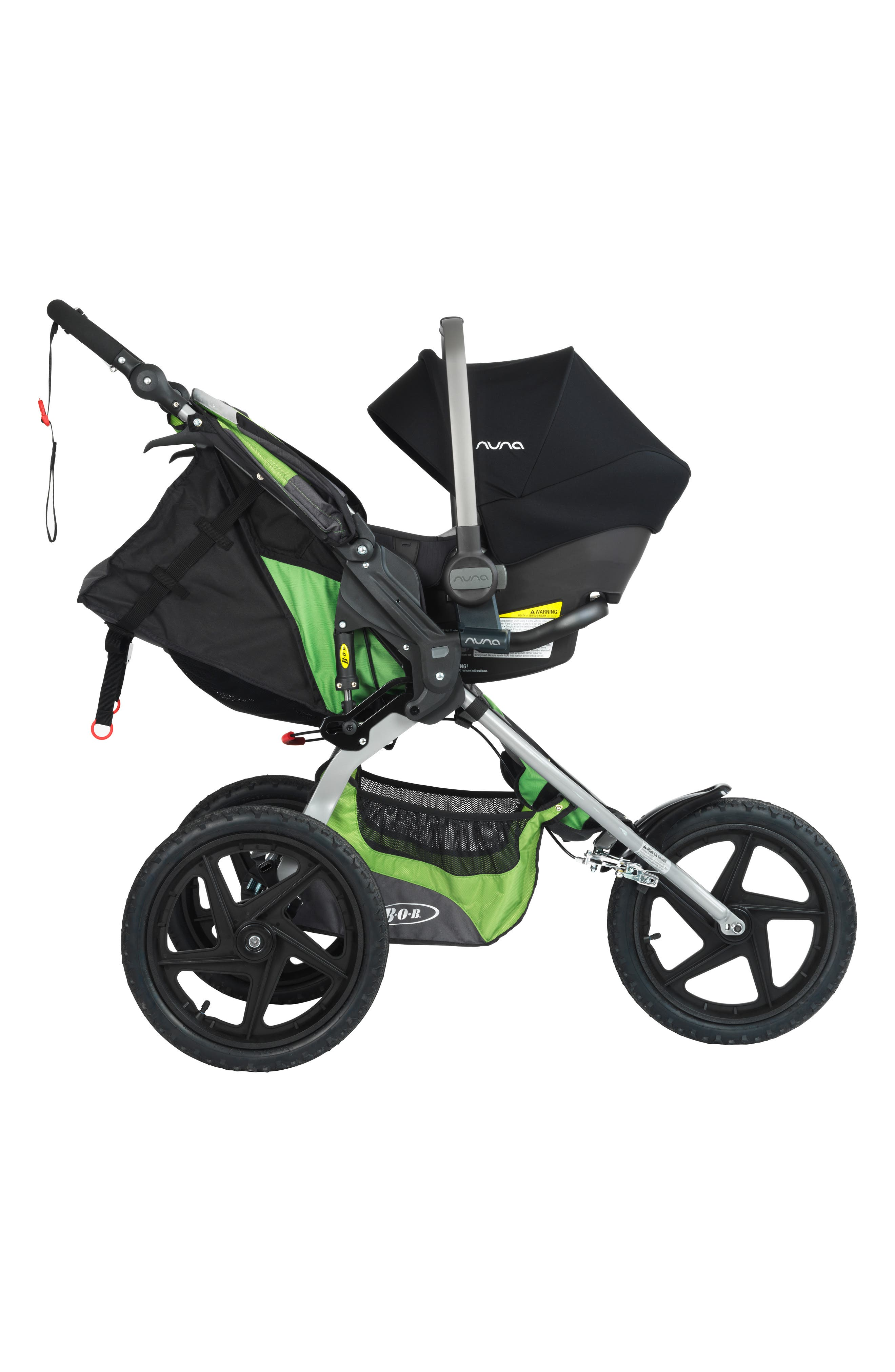 NUNA, PIPA<sup>™</sup> Car Seat Adapter for BOB Single Strollers, Alternate thumbnail 2, color, BLACK