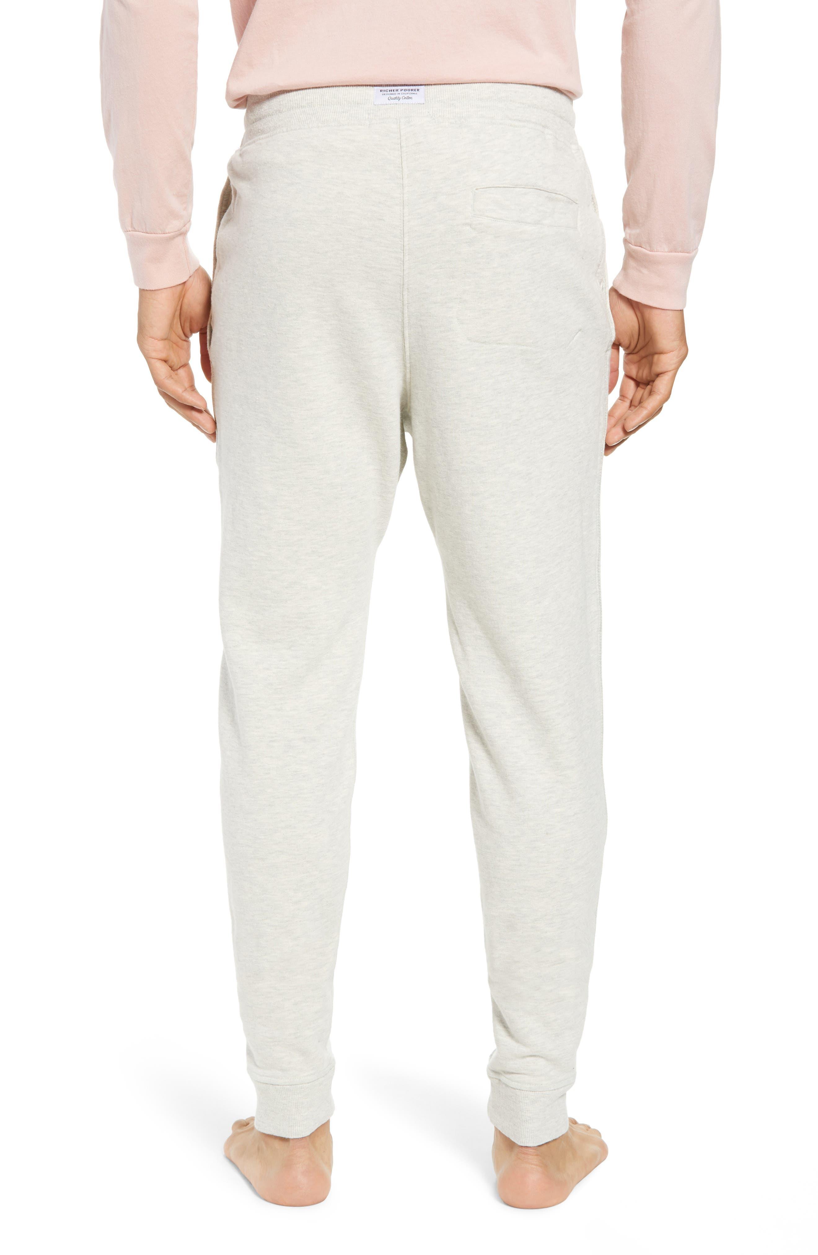 RICHER POORER, Cotton Lounge Pants, Alternate thumbnail 2, color, OATMEAL