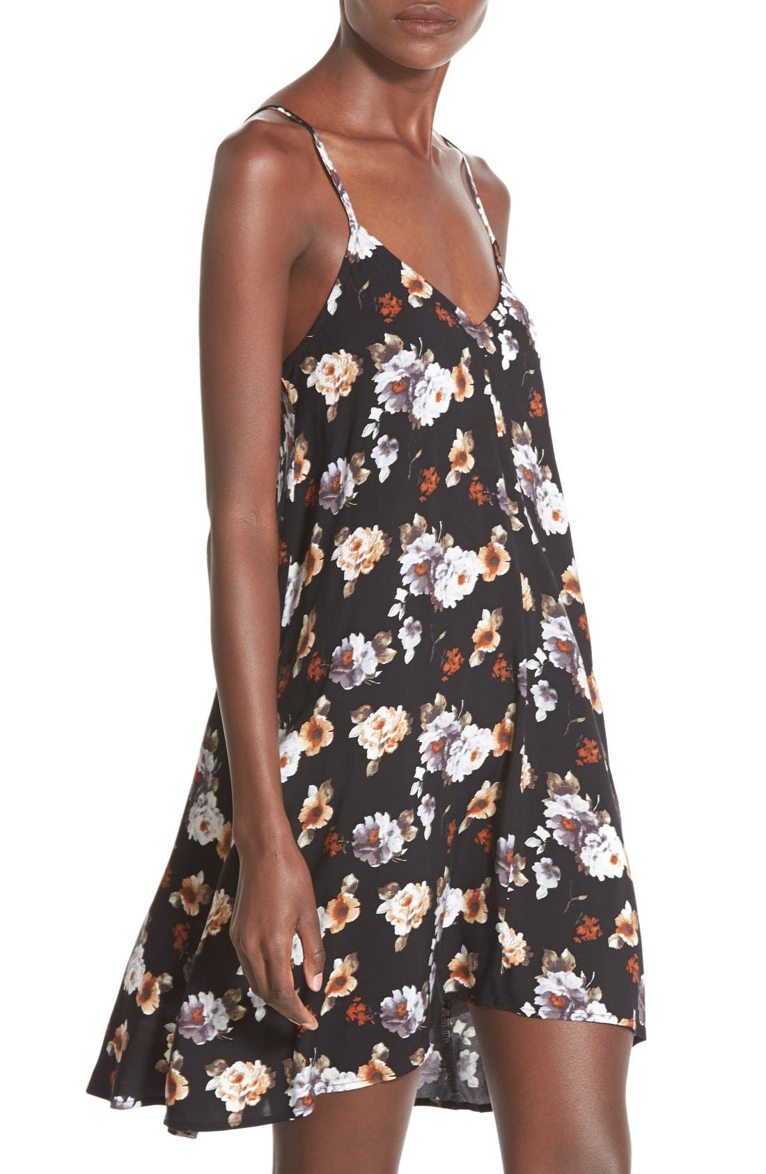 MIMI CHICA, Print Slipdress, Alternate thumbnail 3, color, 001