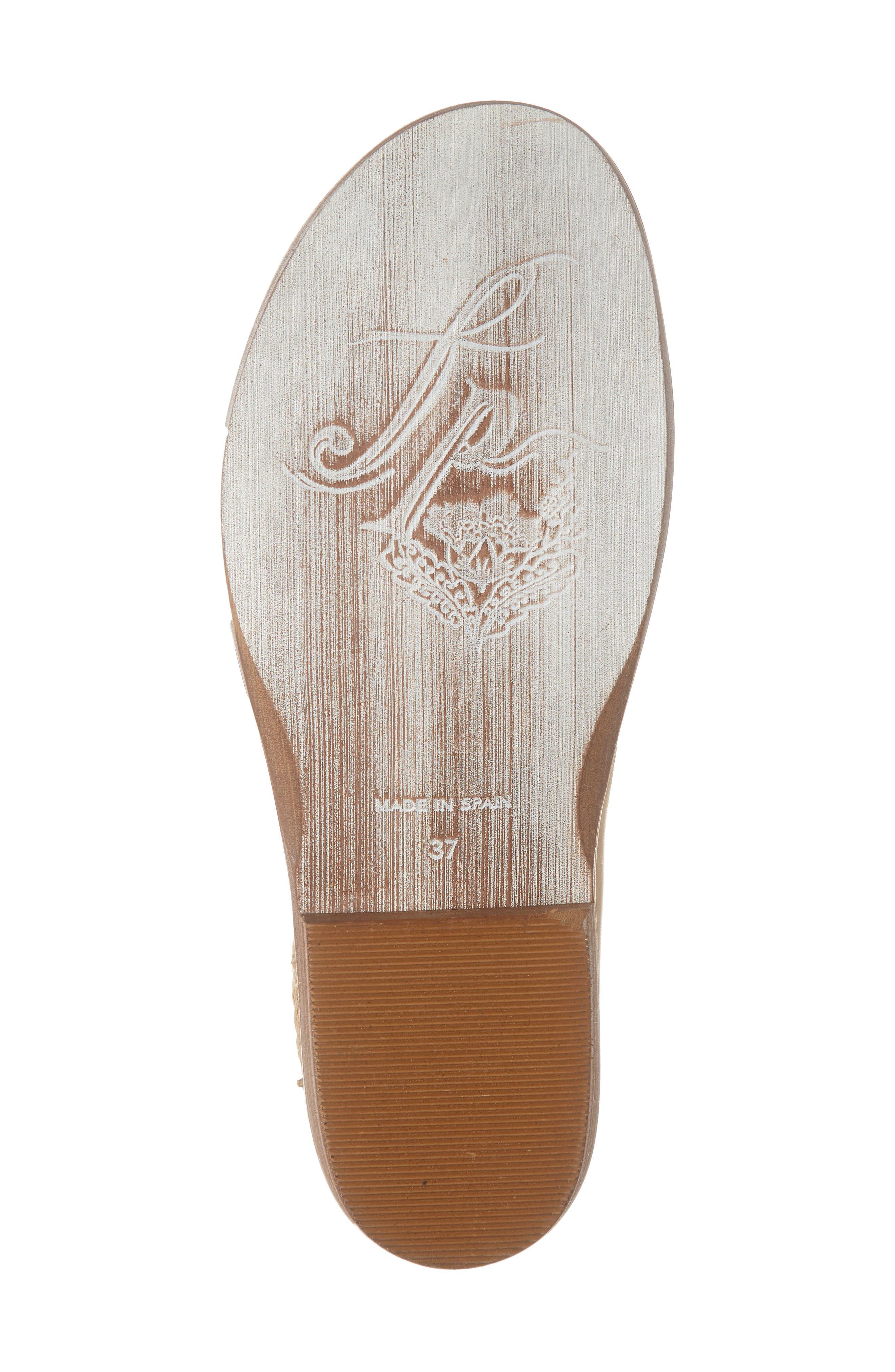FREE PEOPLE, 'Mont Blanc' Asymmetrical Sandal, Alternate thumbnail 6, color, NATURAL