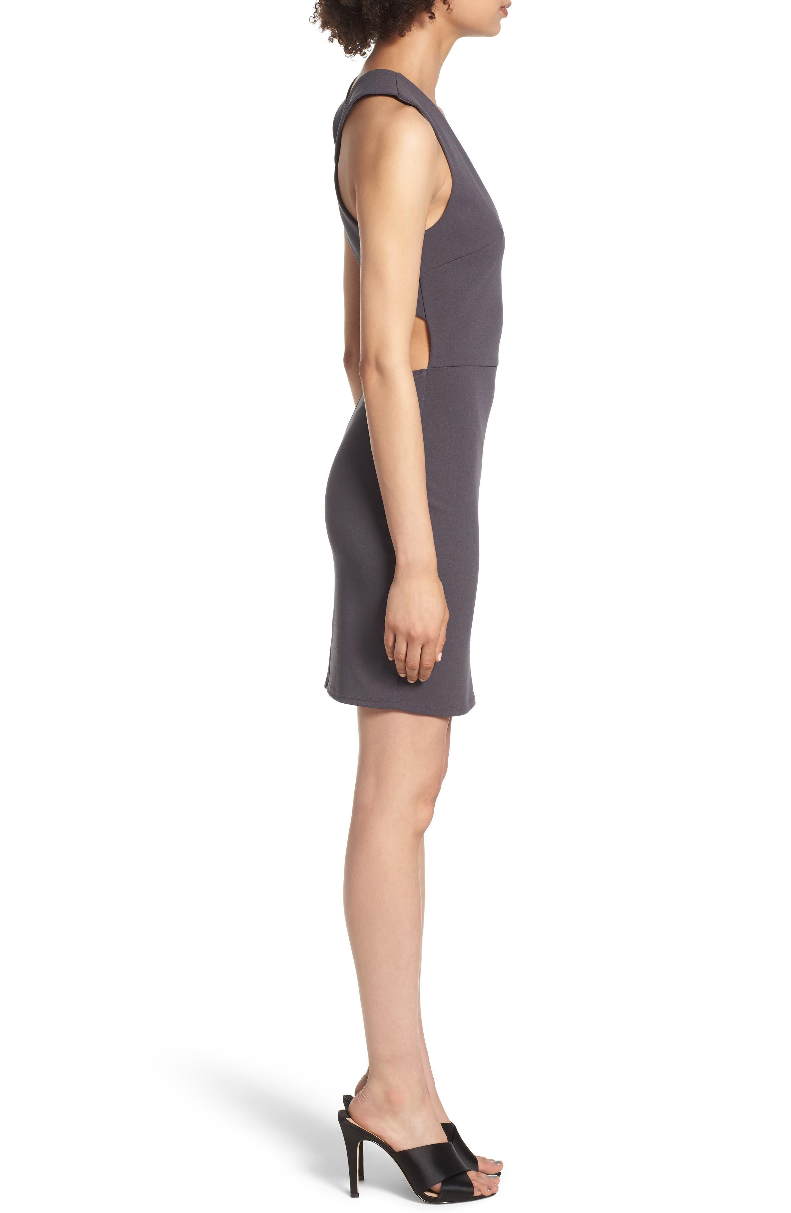 SOPRANO, Crossback Body-Con Dress, Alternate thumbnail 4, color, 020