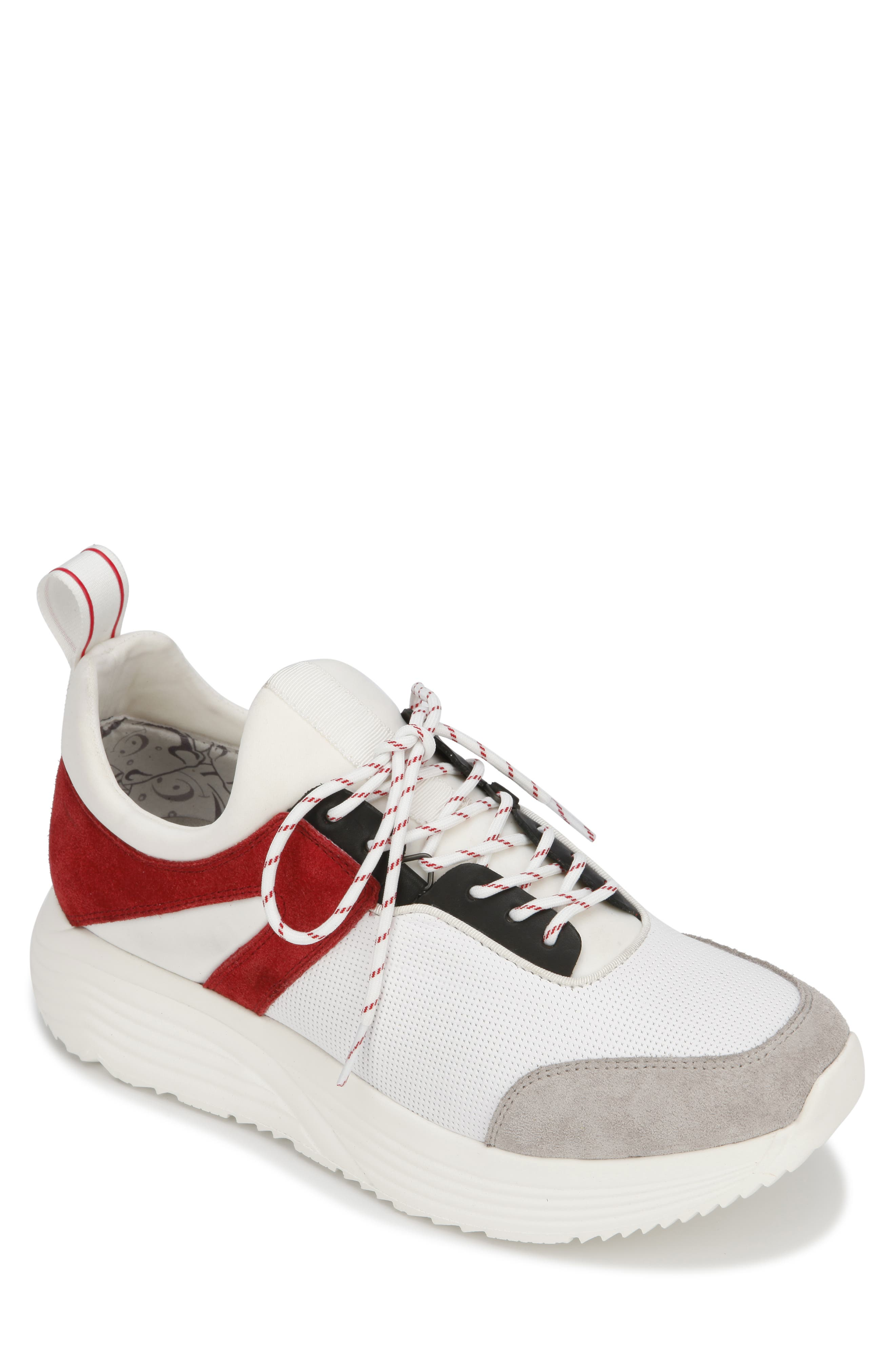 KENNETH COLE NEW YORK, Un-Dad Sneaker, Main thumbnail 1, color, WHITE/ RED LEATHER