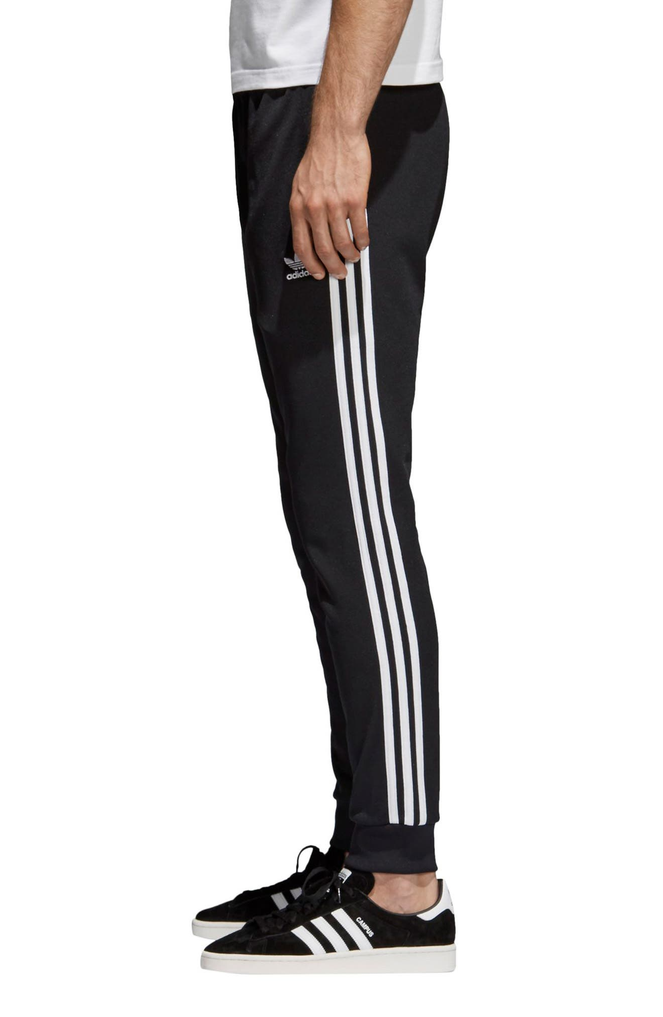 ADIDAS ORIGINALS, Track Pants, Alternate thumbnail 4, color, BLACK