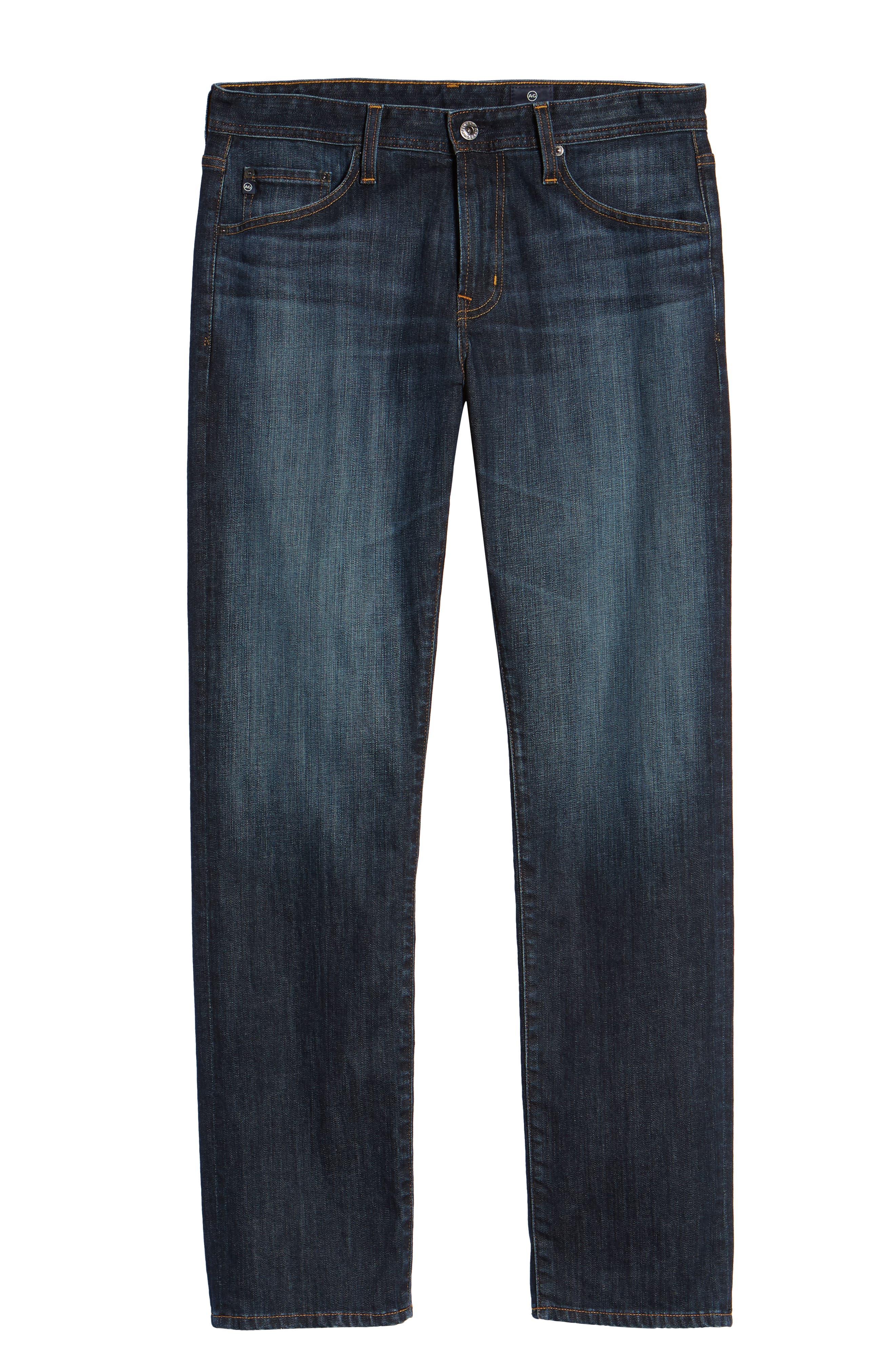 AG, Graduate Slim Straight Leg Jeans, Alternate thumbnail 7, color, WETHERBURN