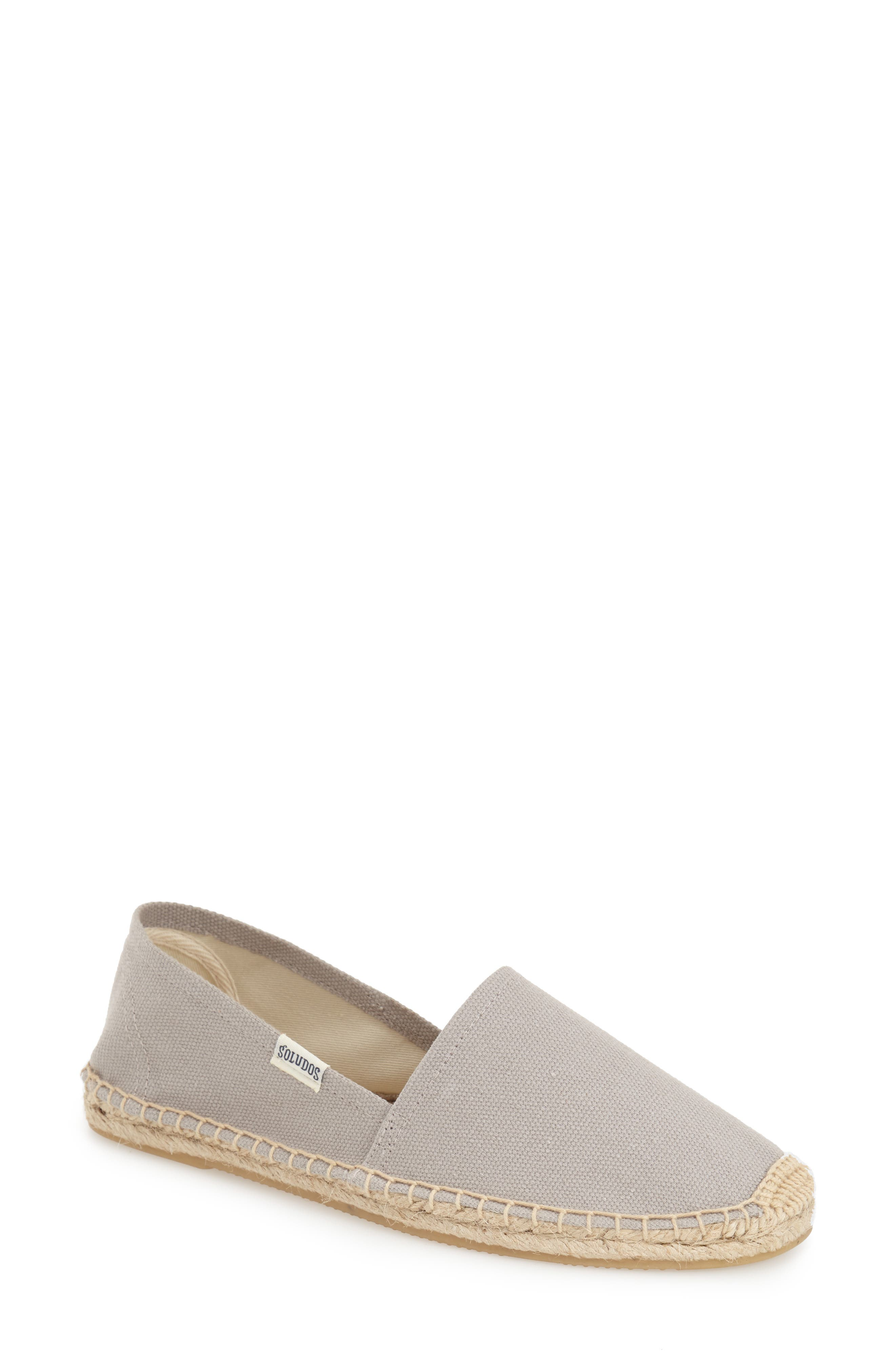 SOLUDOS, 'Original Dali' Espadrille Slip-On, Alternate thumbnail 5, color, GREY CANVAS