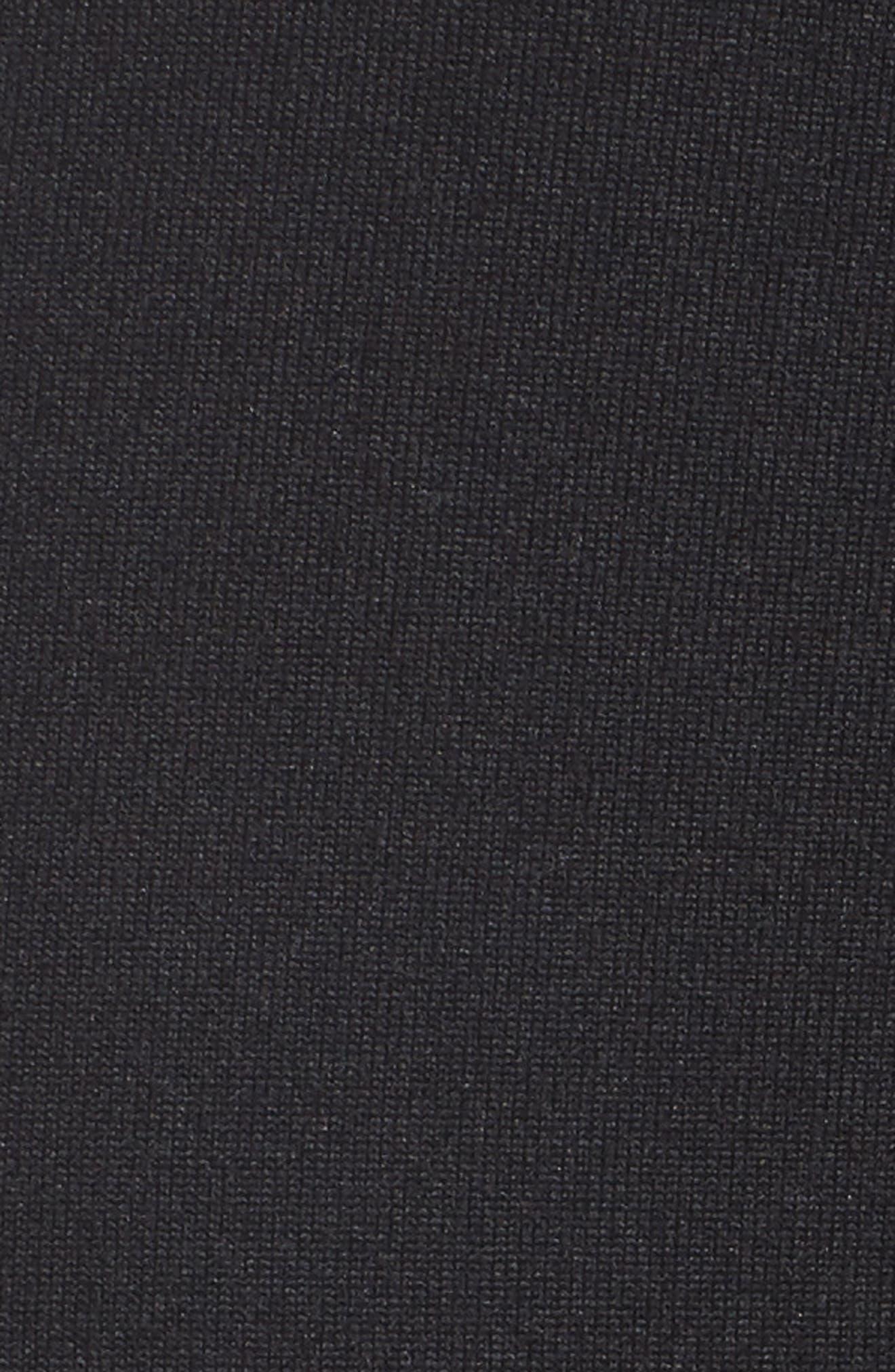 ZELLA, Block Midi Leggings, Alternate thumbnail 6, color, 001