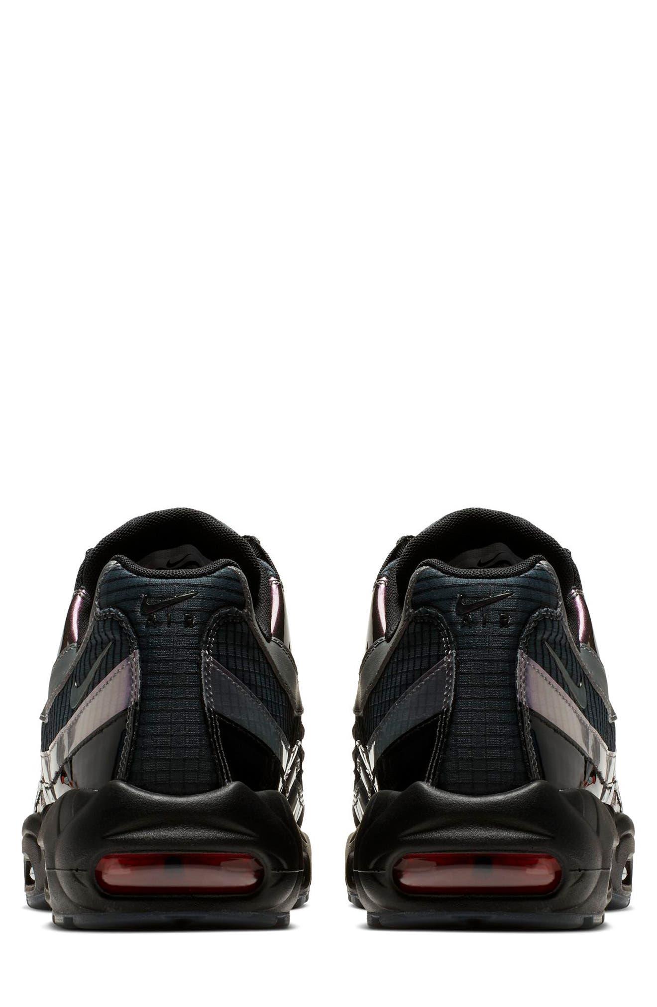 NIKE, Air Max 95 LV8 Sneaker, Alternate thumbnail 2, color, BLACK/ EMBER GLOW/ DARK GREY