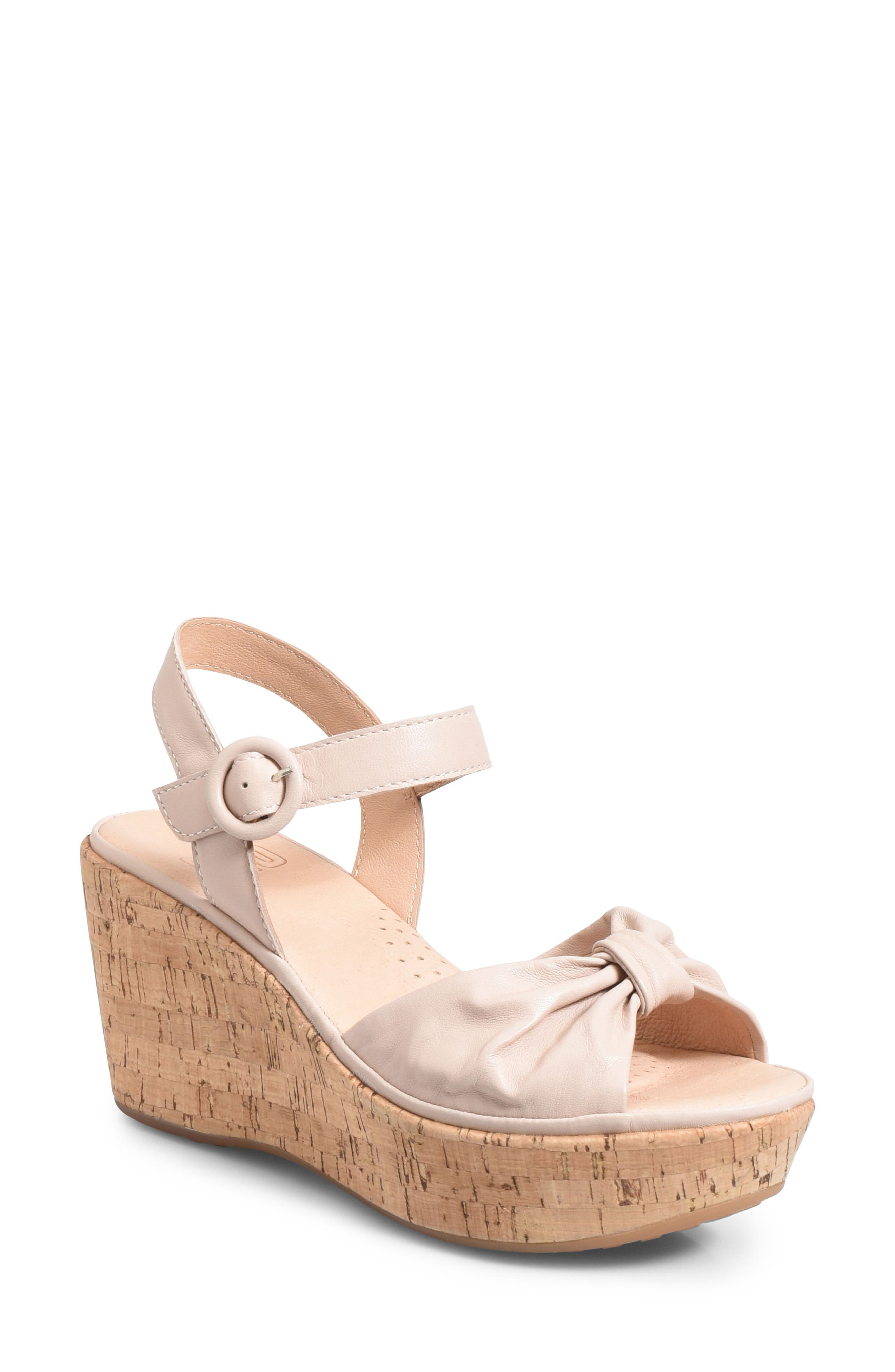 Ono Heavenly Platform Wedge Sandal, Pink