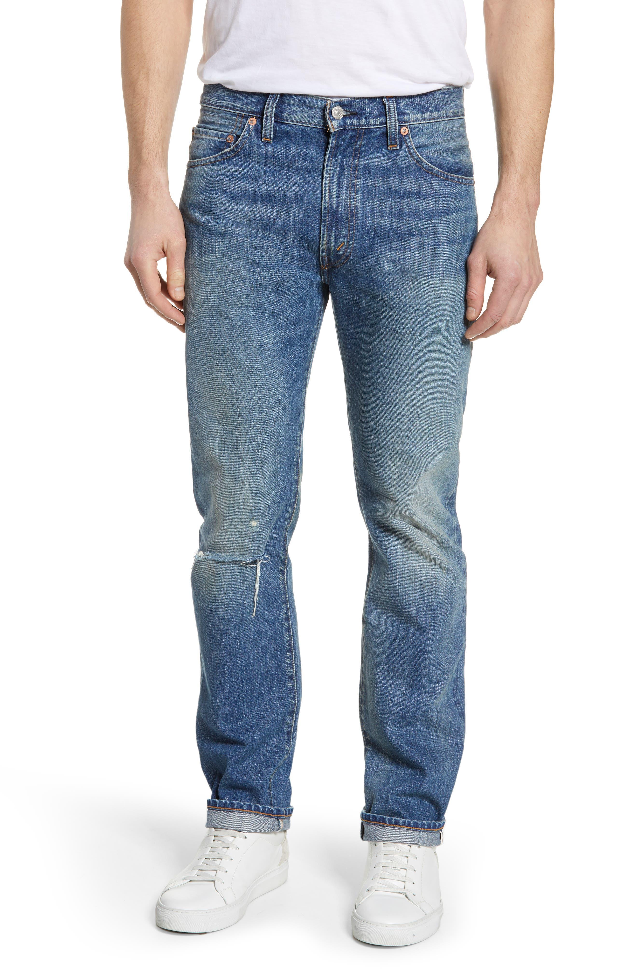 LEVI'S<SUP>®</SUP> VINTAGE CLOTHING 1967 505<sup>™</sup> Slim Fit Selvedge Jeans, Main, color, SPUTNIK