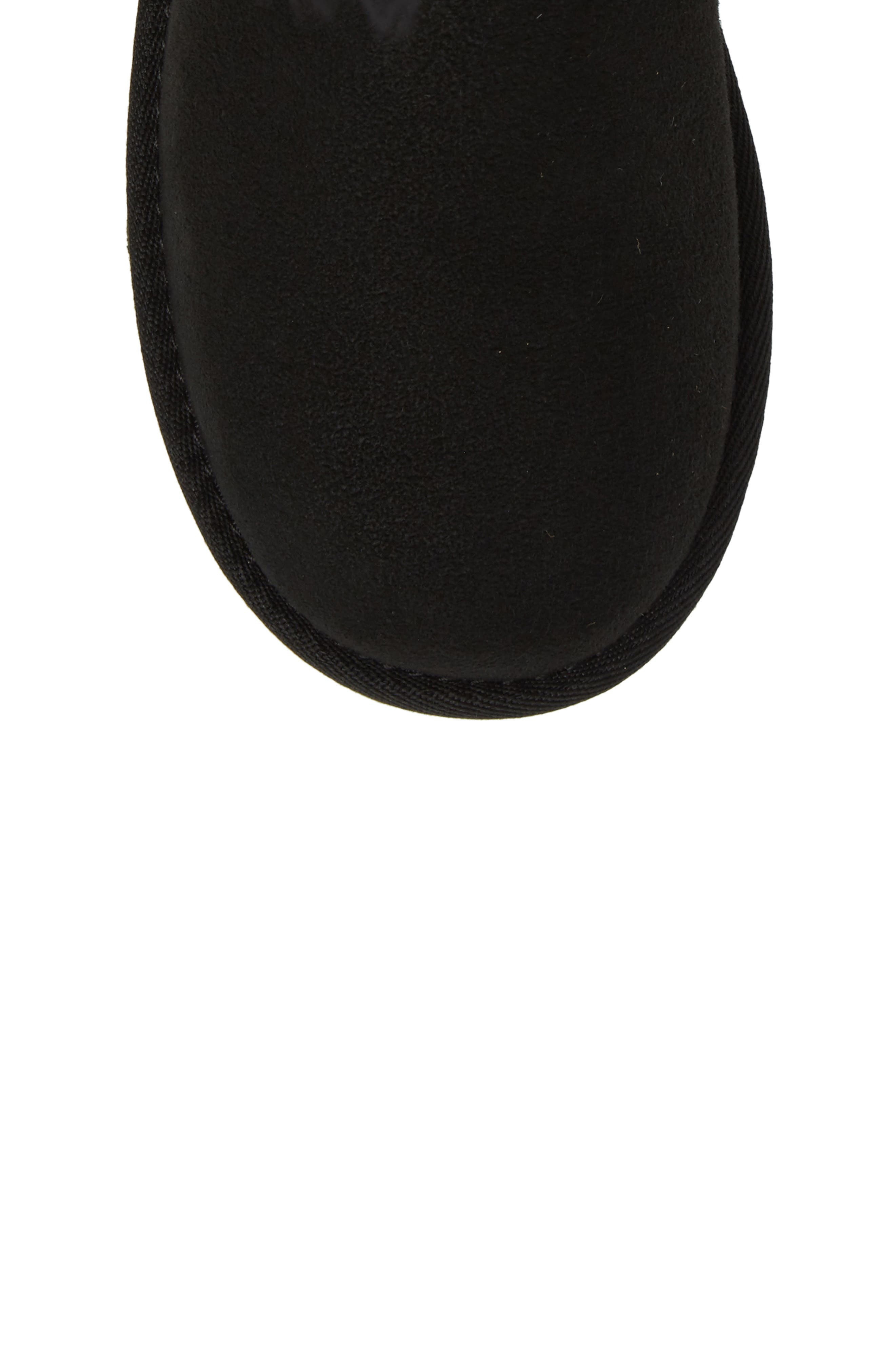 UGG<SUP>®</SUP>, Bailey Button Triplet II Genuine Shearling Boot, Alternate thumbnail 5, color, BLACK SUEDE
