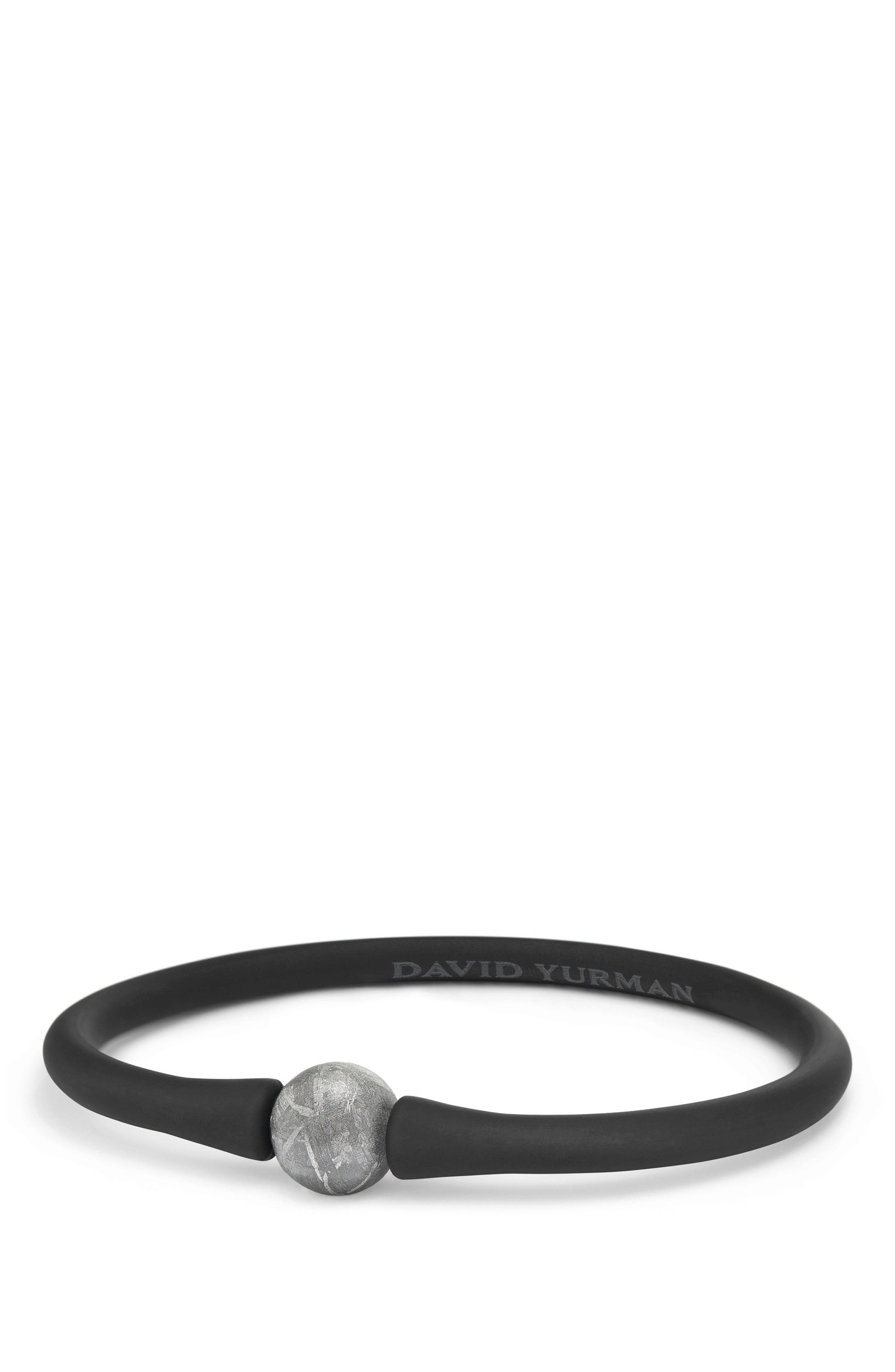 DAVID YURMAN, Spiritual Beads Stone Rubber Bead Bracelet, Main thumbnail 1, color, METEORITE