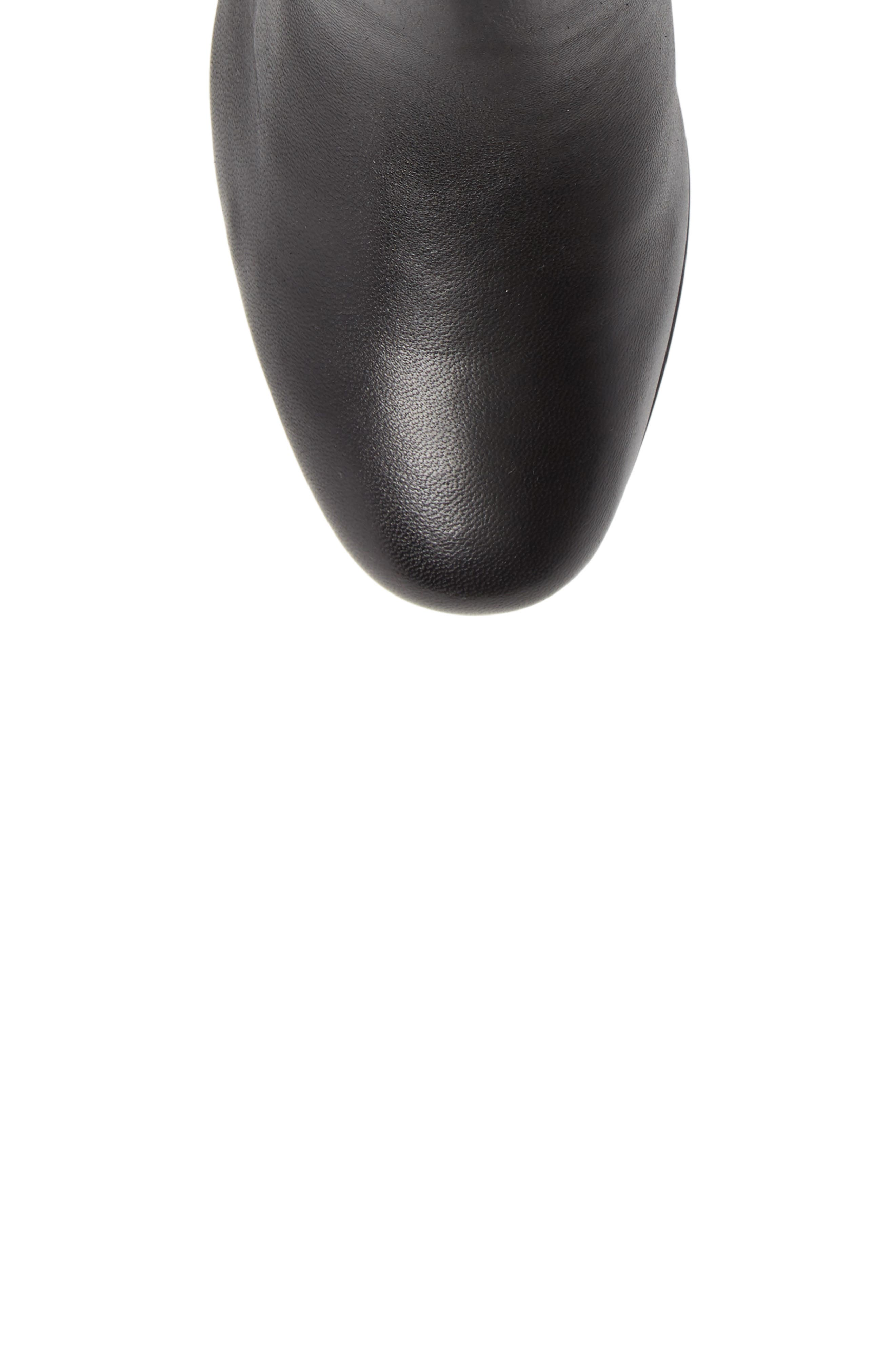 CLARKS<SUP>®</SUP>, Un Cosmo Up Bootie, Alternate thumbnail 5, color, BLACK LEATHER