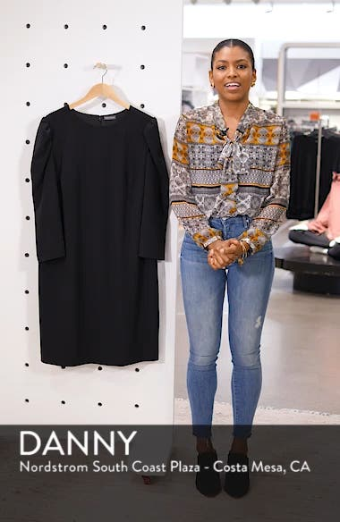 Puff Shoulder Shift Dress, sales video thumbnail
