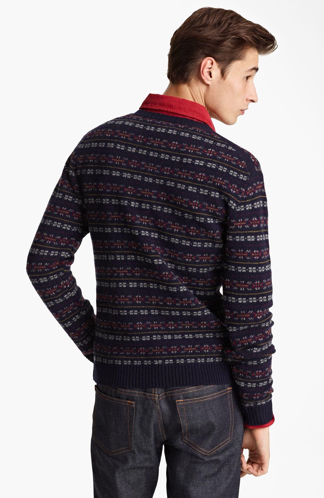 GRAYERS, Fair Isle Wool Sweater, Alternate thumbnail 2, color, 410