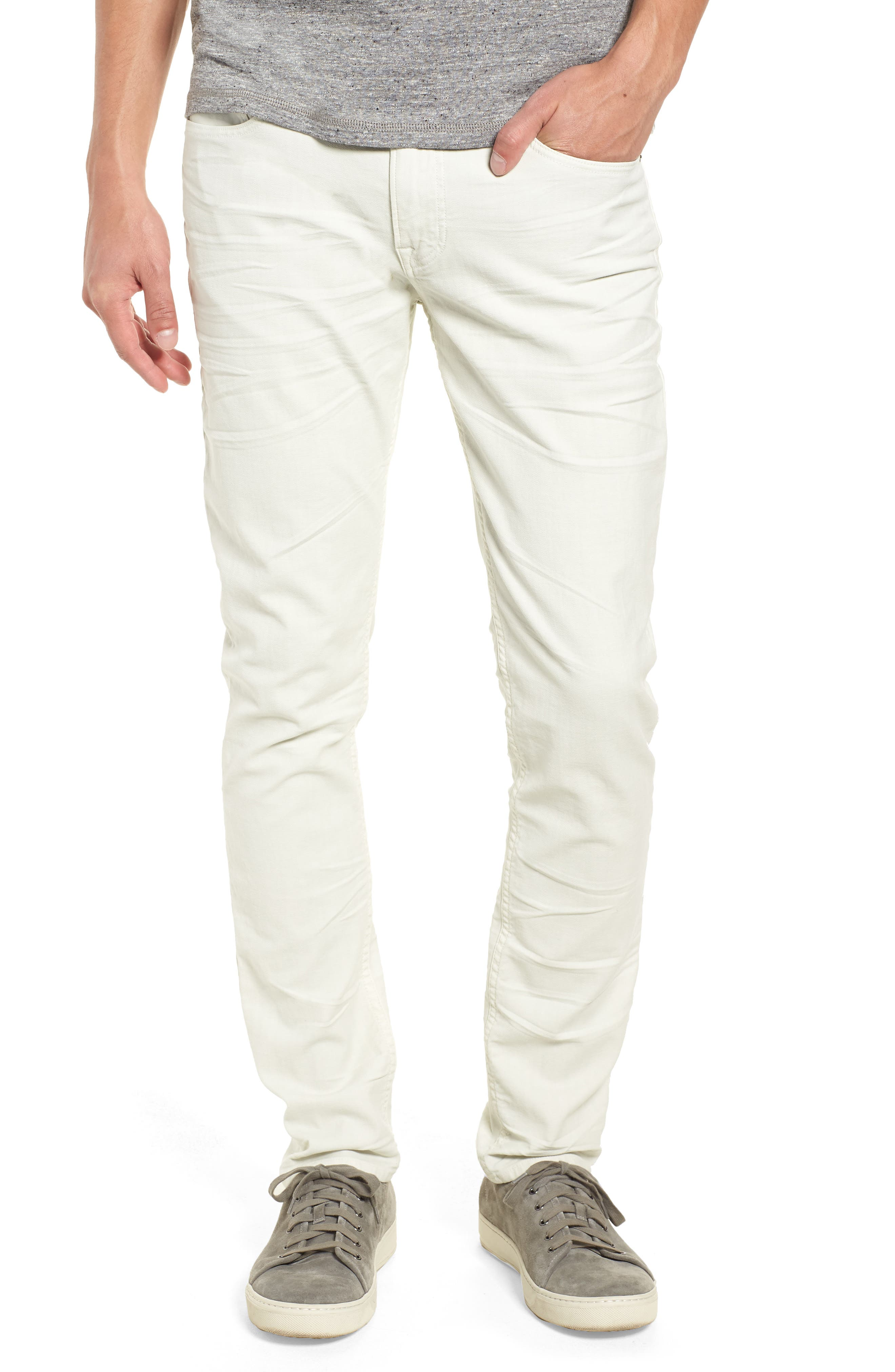 HUDSON JEANS Axl Skinny Fit Jeans, Main, color, DIRTY WHITE