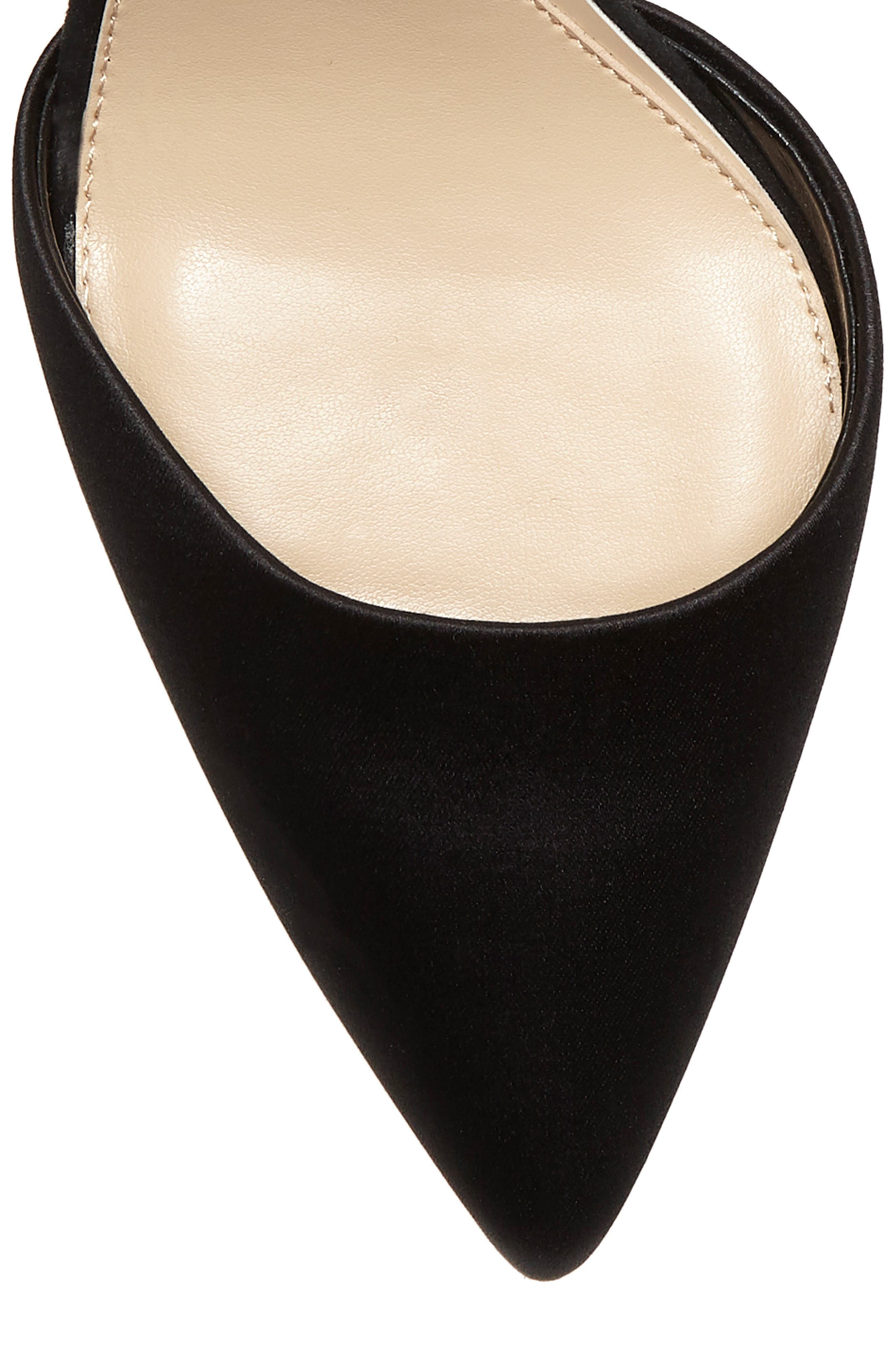 IMAGINE BY VINCE CAMUTO, Glora Pointy Toe Pump, Alternate thumbnail 8, color, BLACK SATIN