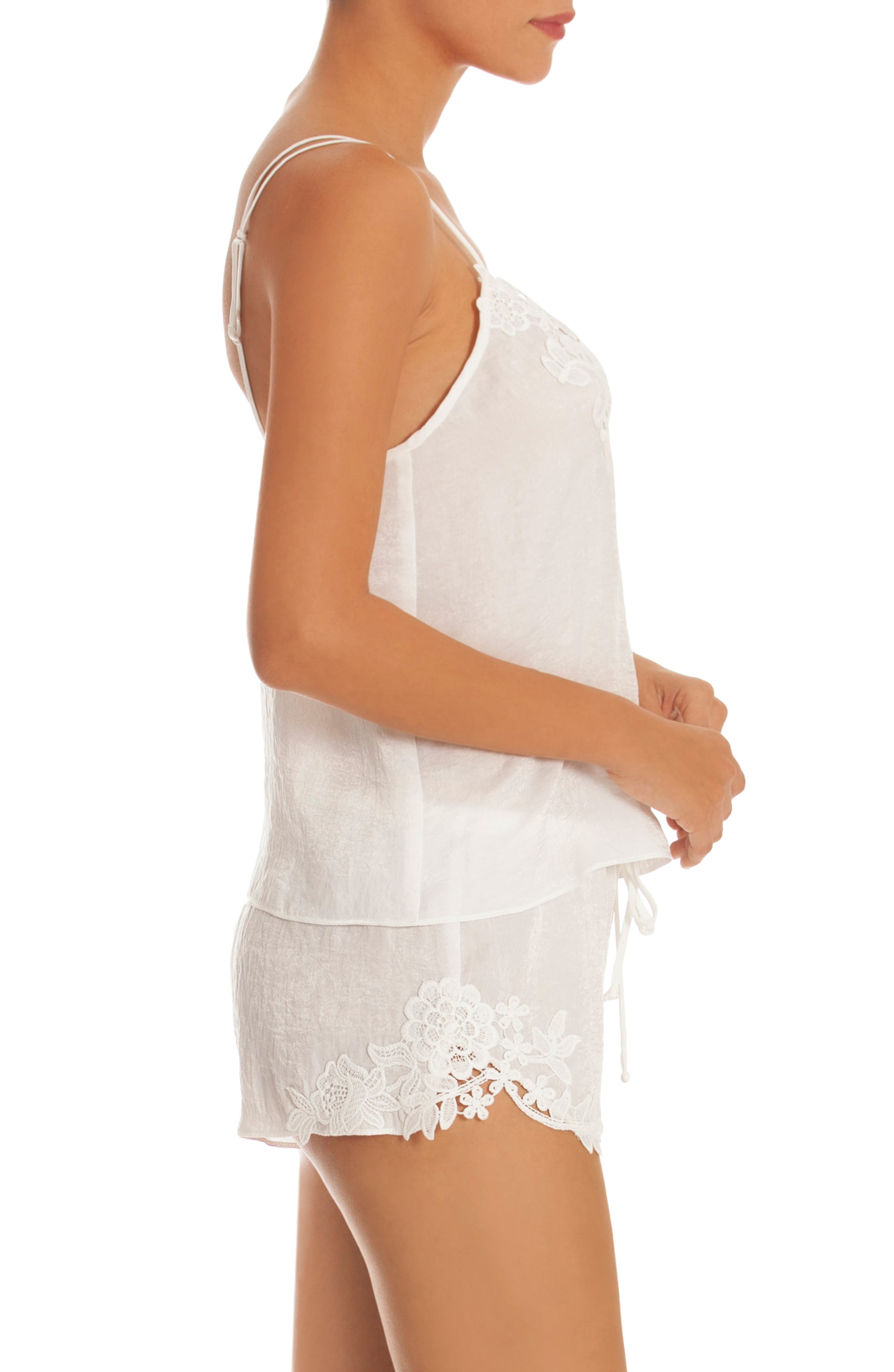 IN BLOOM BY JONQUIL, Short Pajamas, Alternate thumbnail 3, color, IVORY