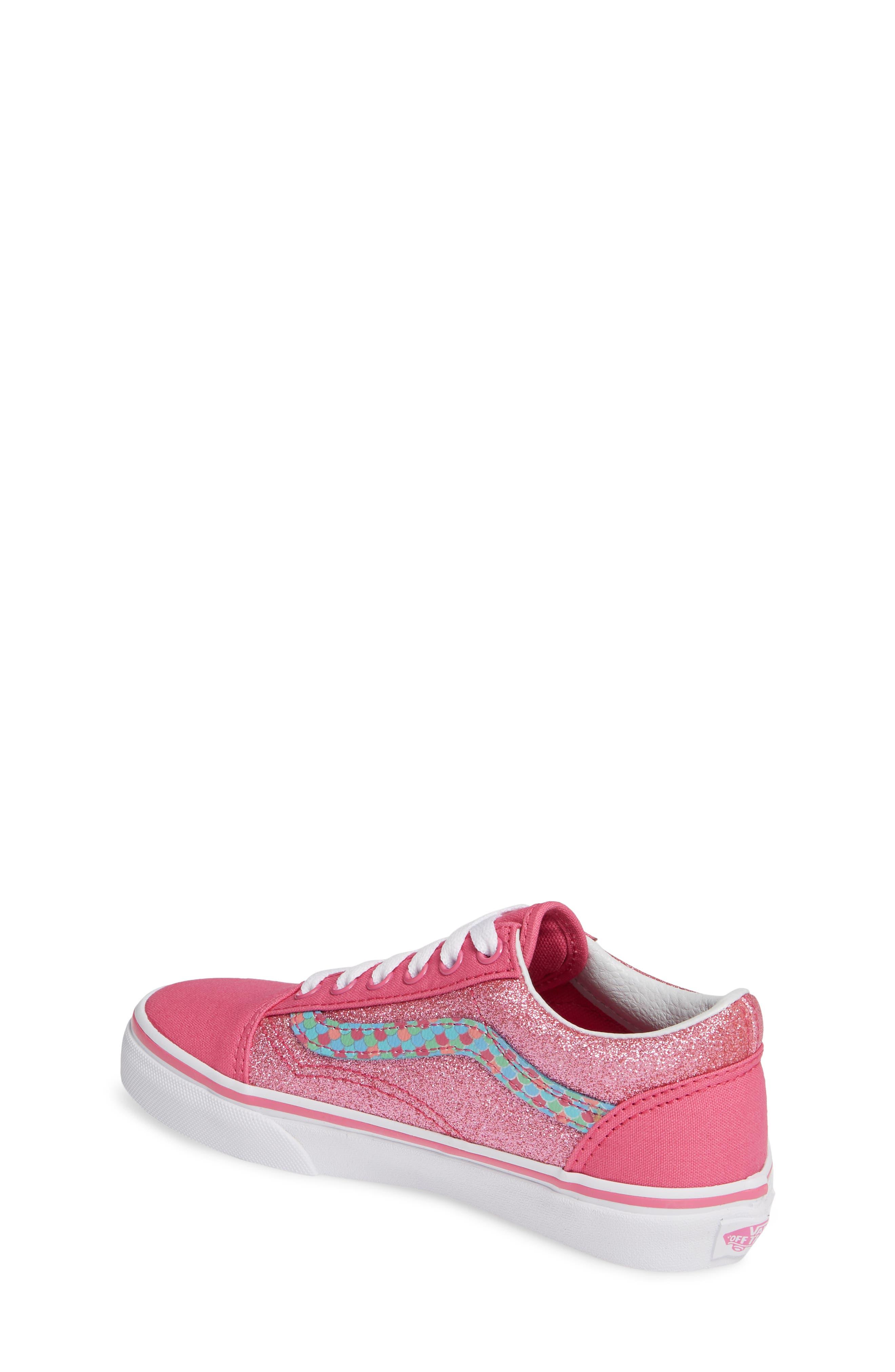 VANS, Old Skool Sneaker, Alternate thumbnail 2, color, CARMINE ROSE/ TRUE WHITE