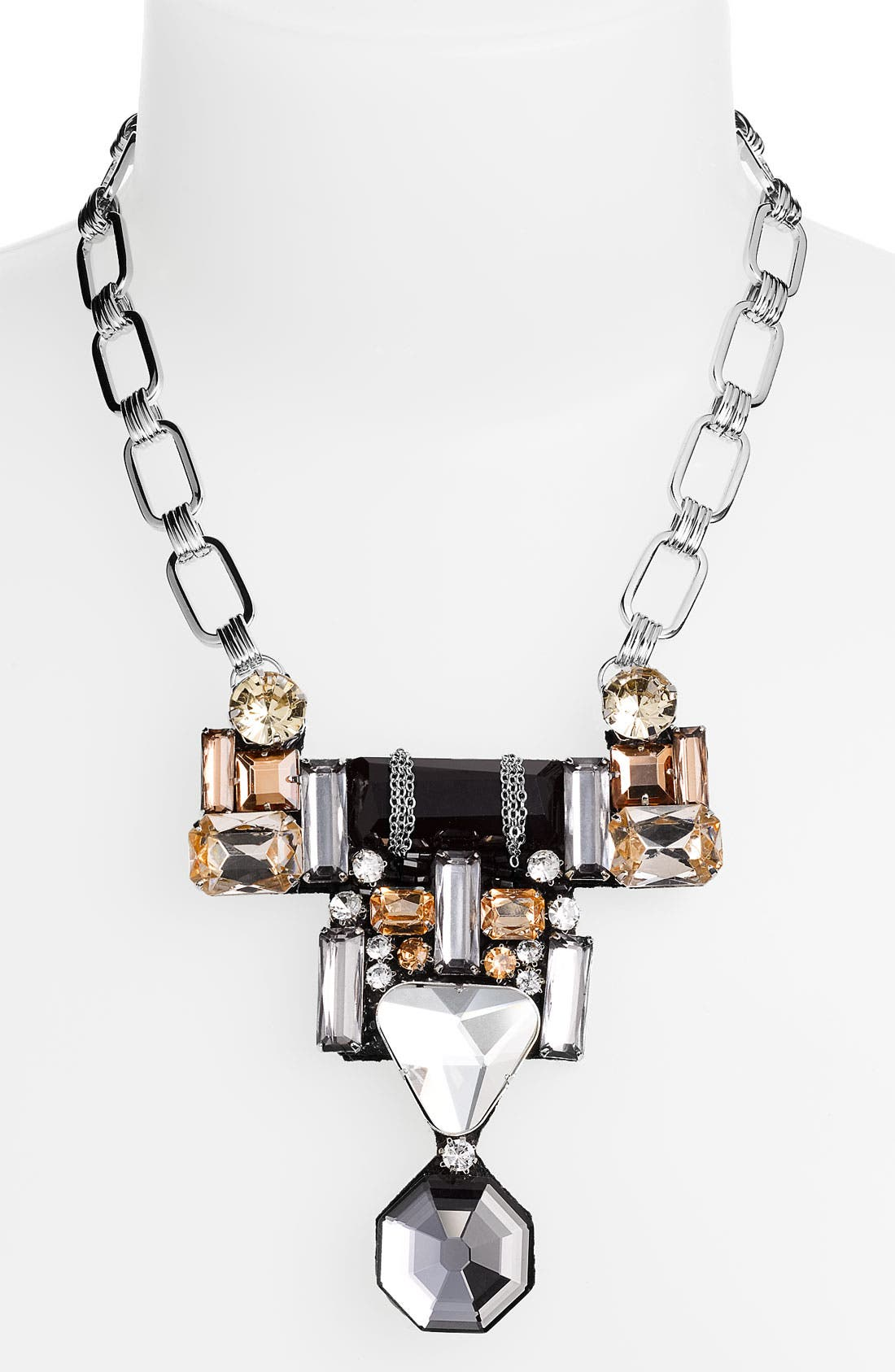 CARA Couture Crystal Bib Statement Necklace, Main, color, 040