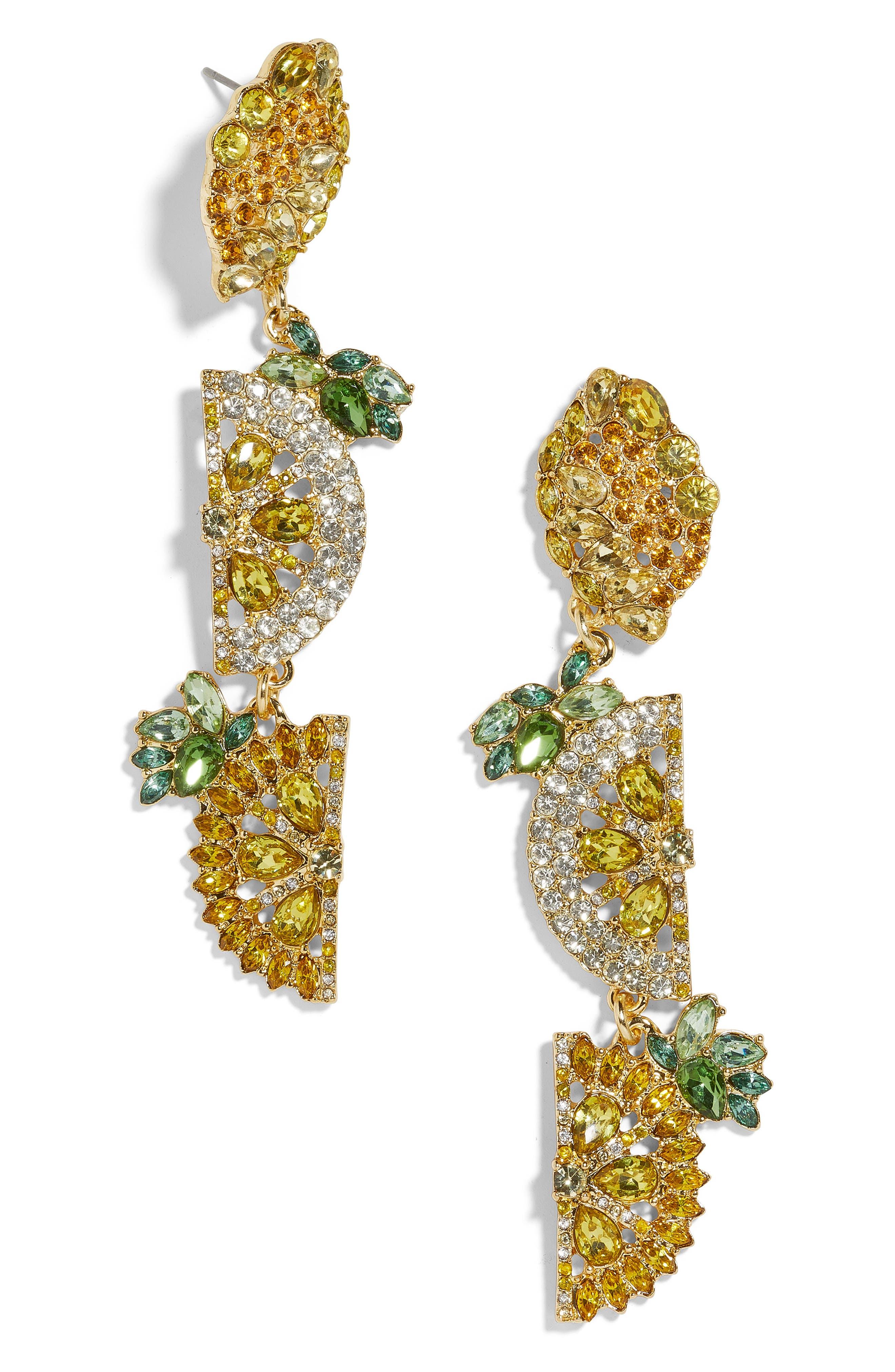 BAUBLEBAR Lemon Drop Earrings, Main, color, YELLOW