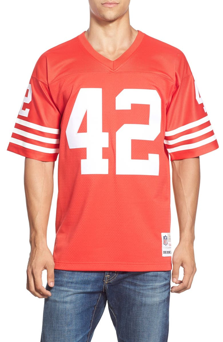 check out 0c1da 38a43 Mitchell & Ness 'Ronnie Lott' Replica Jersey | Nordstrom