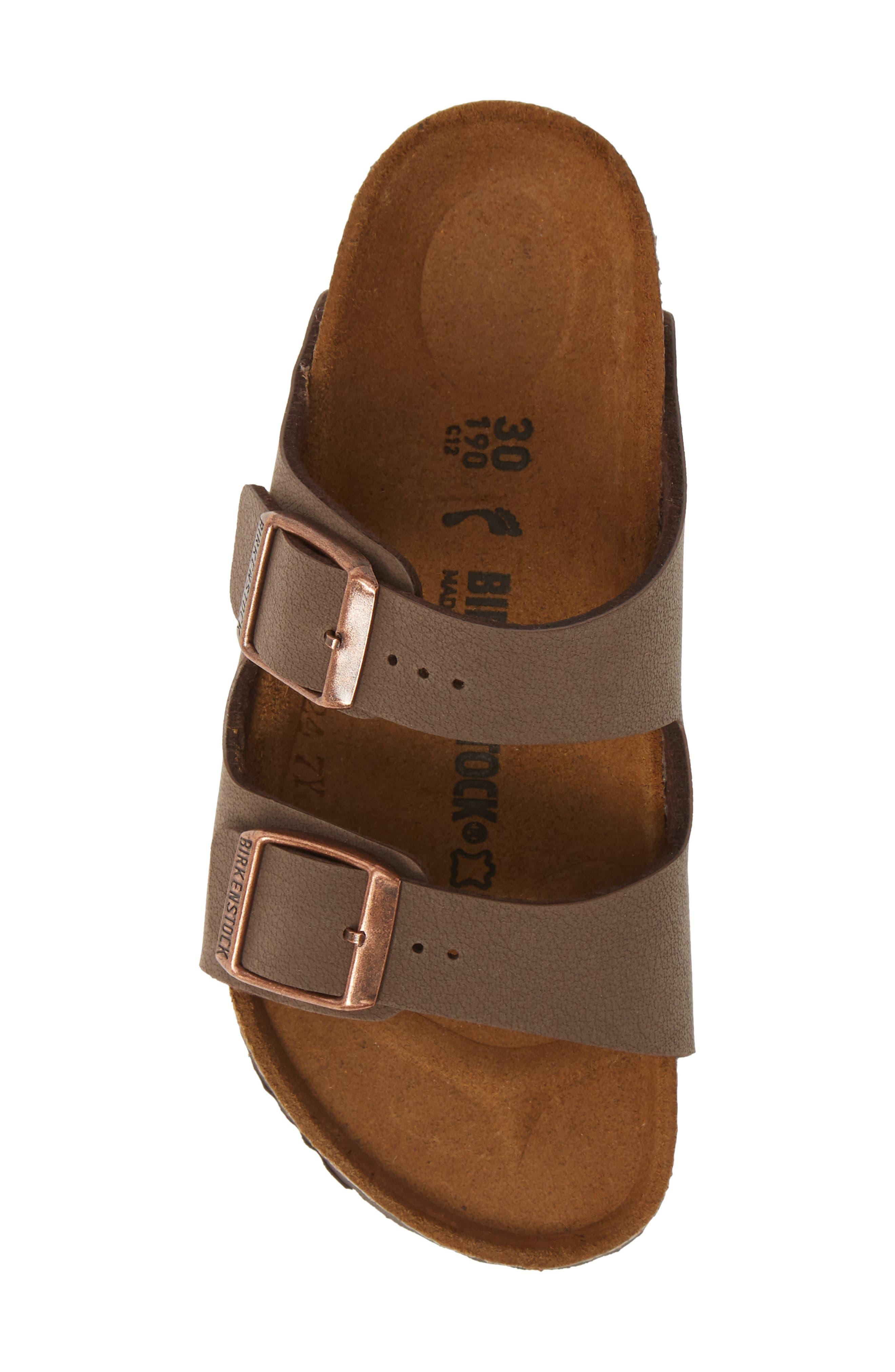 BIRKENSTOCK, 'Arizona' Suede Sandal, Alternate thumbnail 6, color, MOCHA