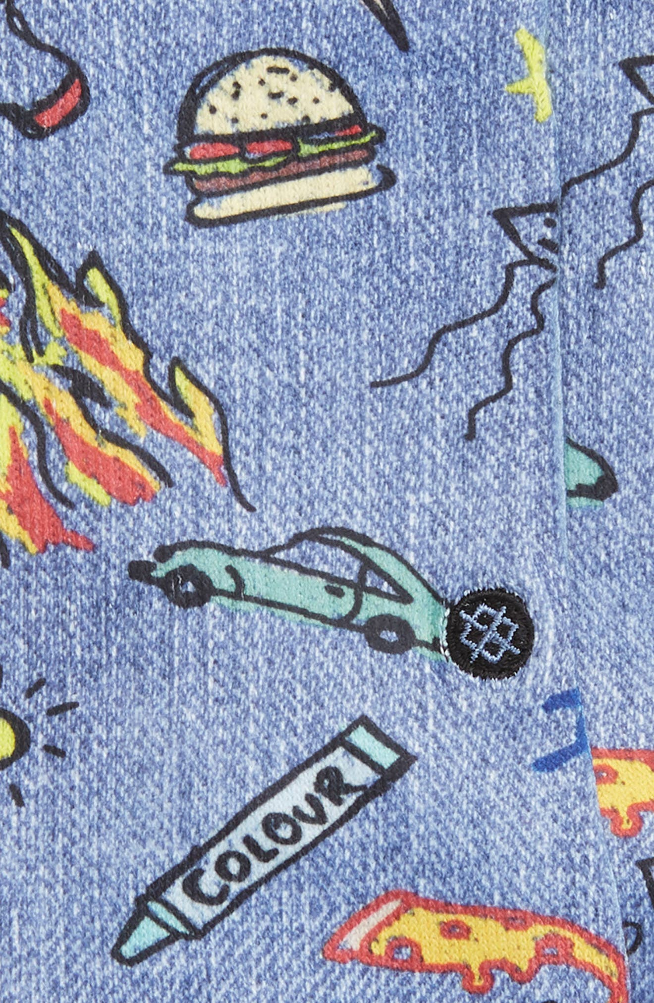 STANCE, Doodle Dance Crew Socks, Alternate thumbnail 2, color, BLUE