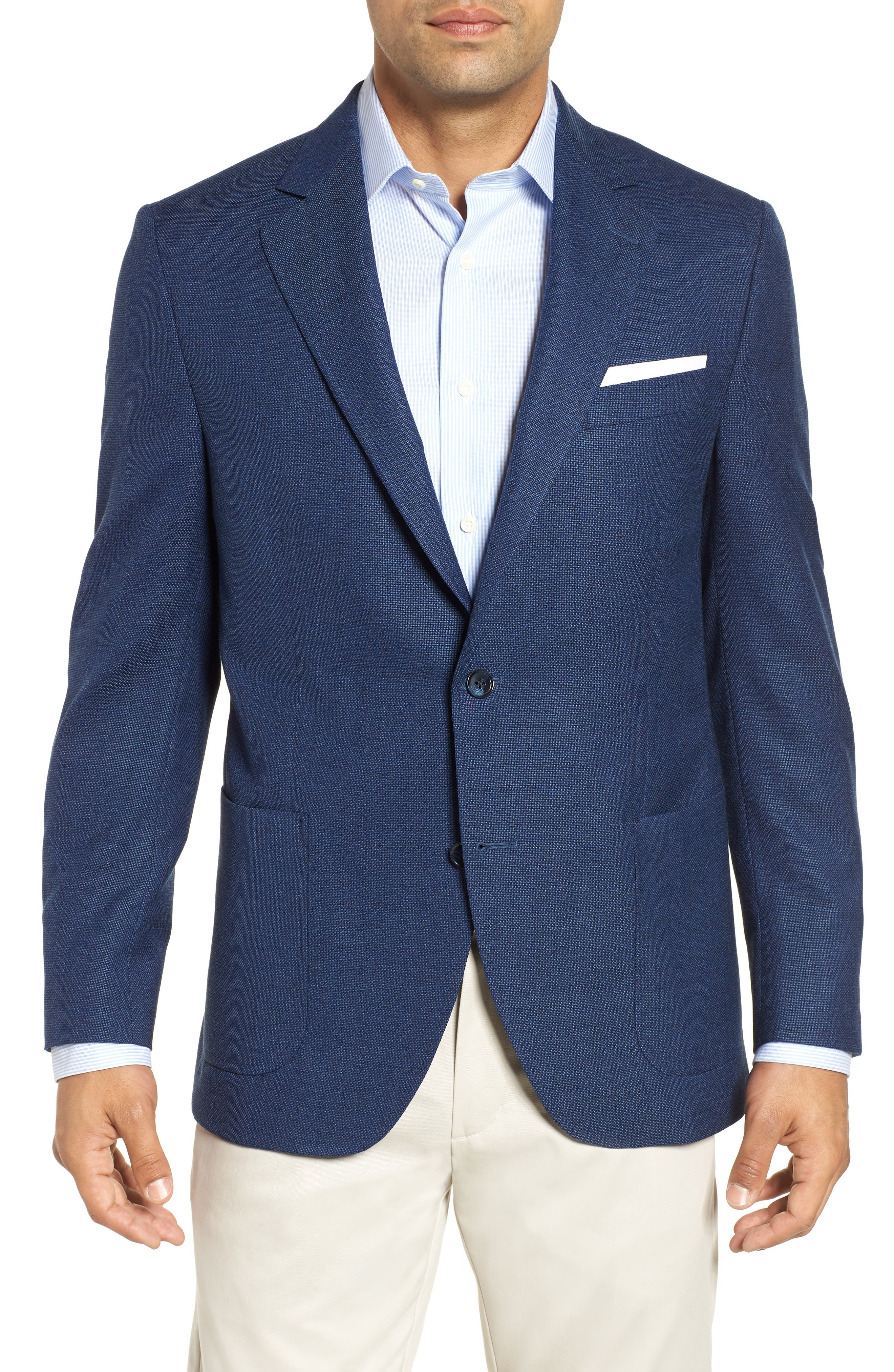 PETER MILLAR, Hyperlight Classic Fit Wool Sport Coat, Main thumbnail 1, color, 400