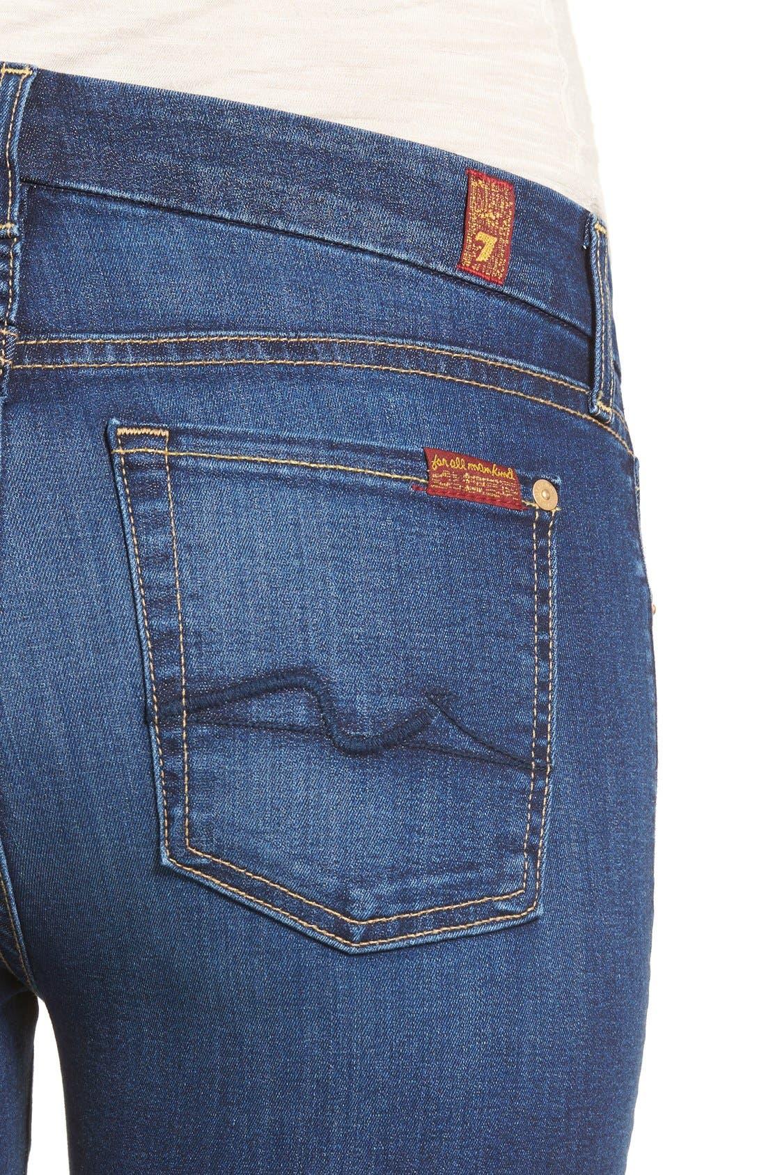 7 FOR ALL MANKIND<SUP>®</SUP>, b(air) Kimmie Straight Leg Jeans, Alternate thumbnail 4, color, DUCHESS