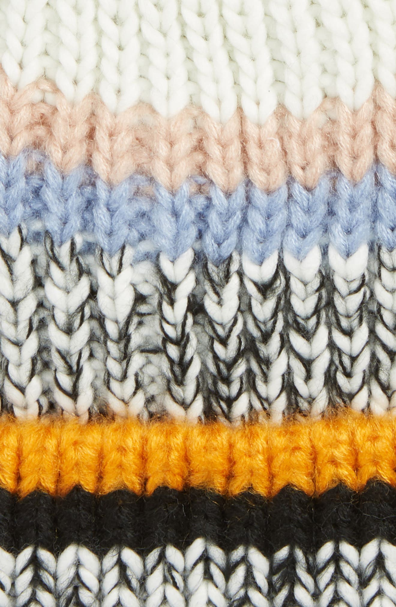TOPSHOP, Colorblock Stripe Knit Beanie, Alternate thumbnail 2, color, 800