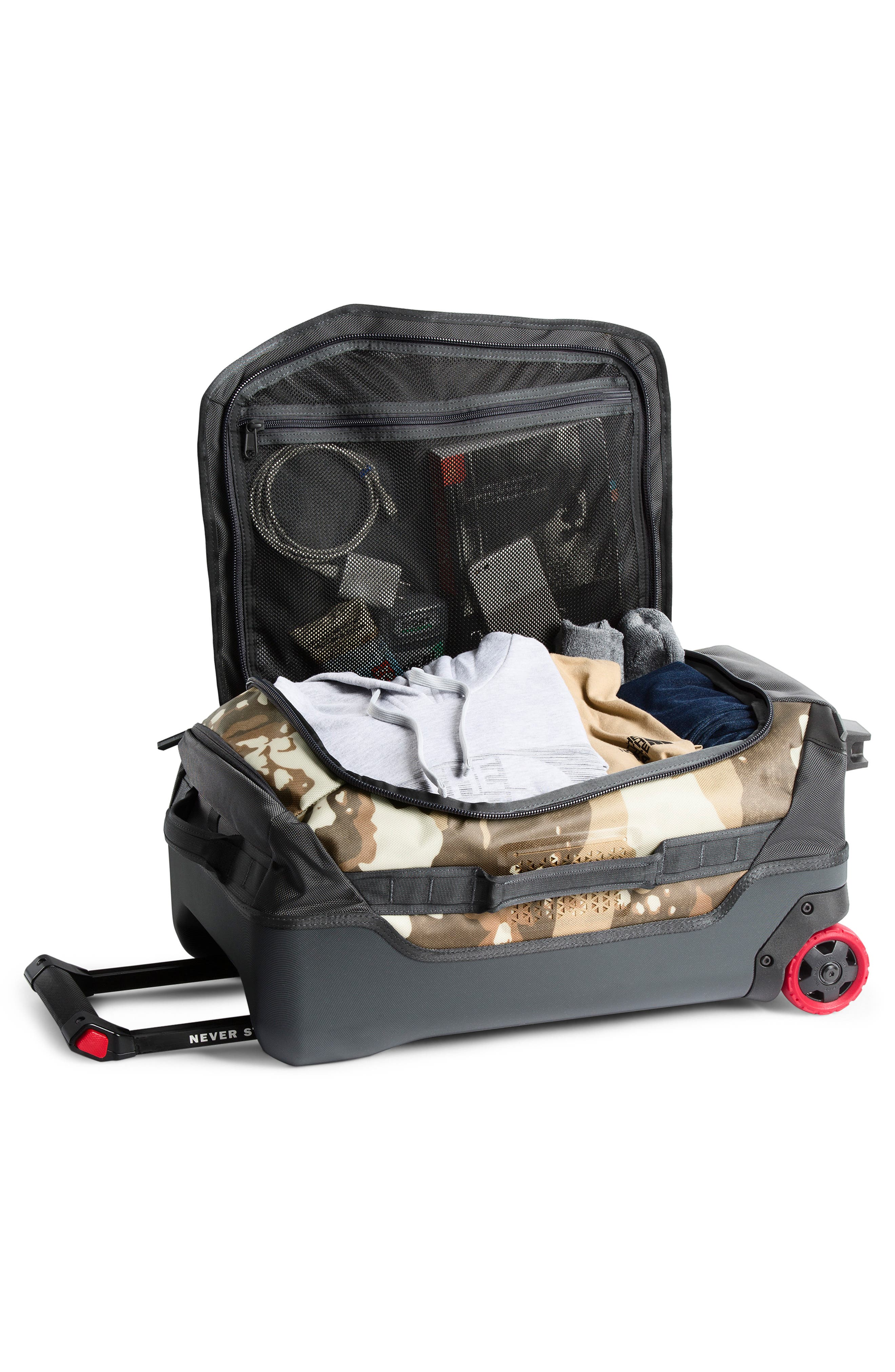 THE NORTH FACE, Rolling Thunder 21-Inch Wheeled Carry-On, Alternate thumbnail 2, color, KHAKI DESERT/ GREY