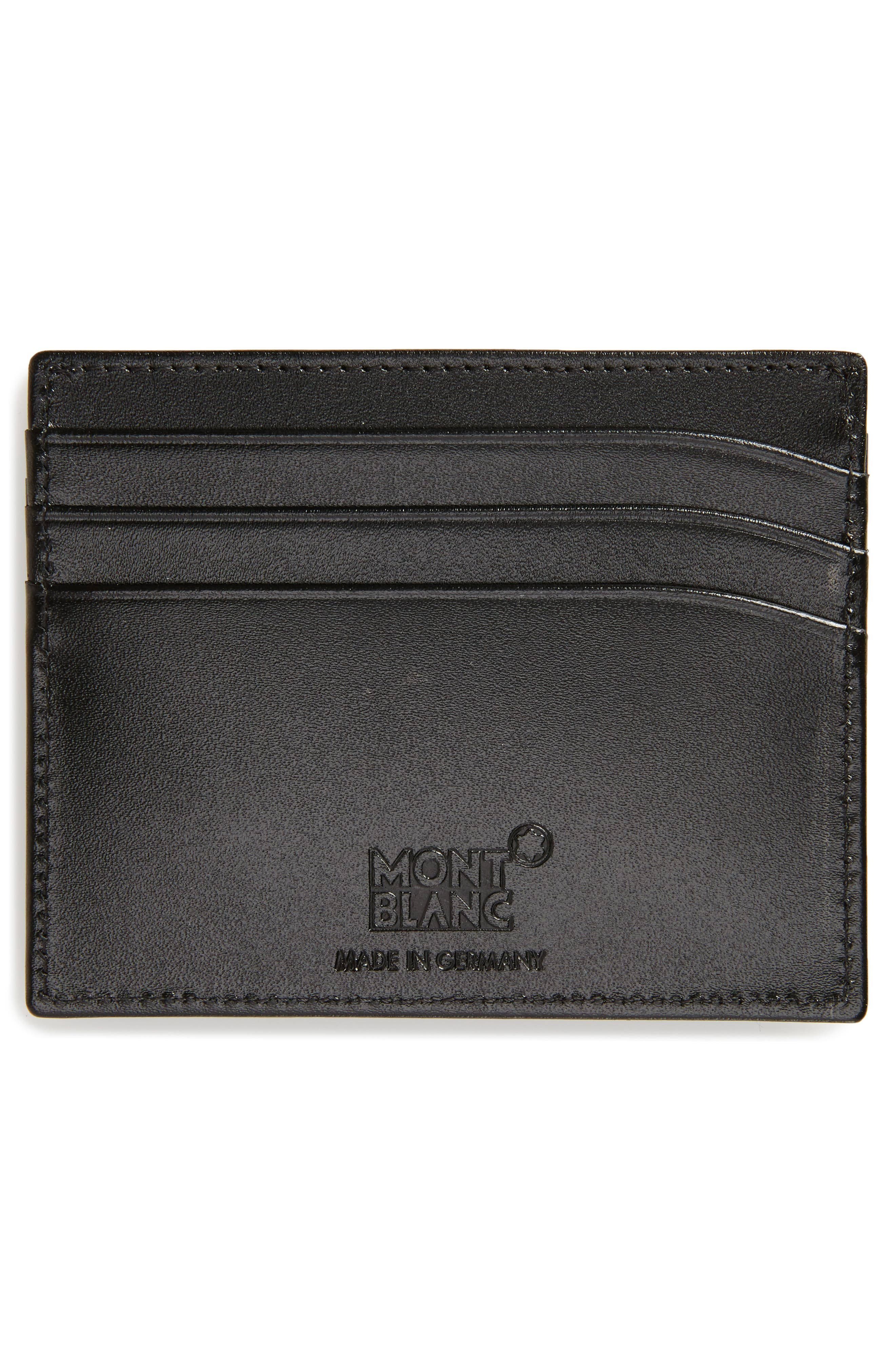 MONTBLANC, Meisterstück Leather Card Case, Alternate thumbnail 2, color, 001
