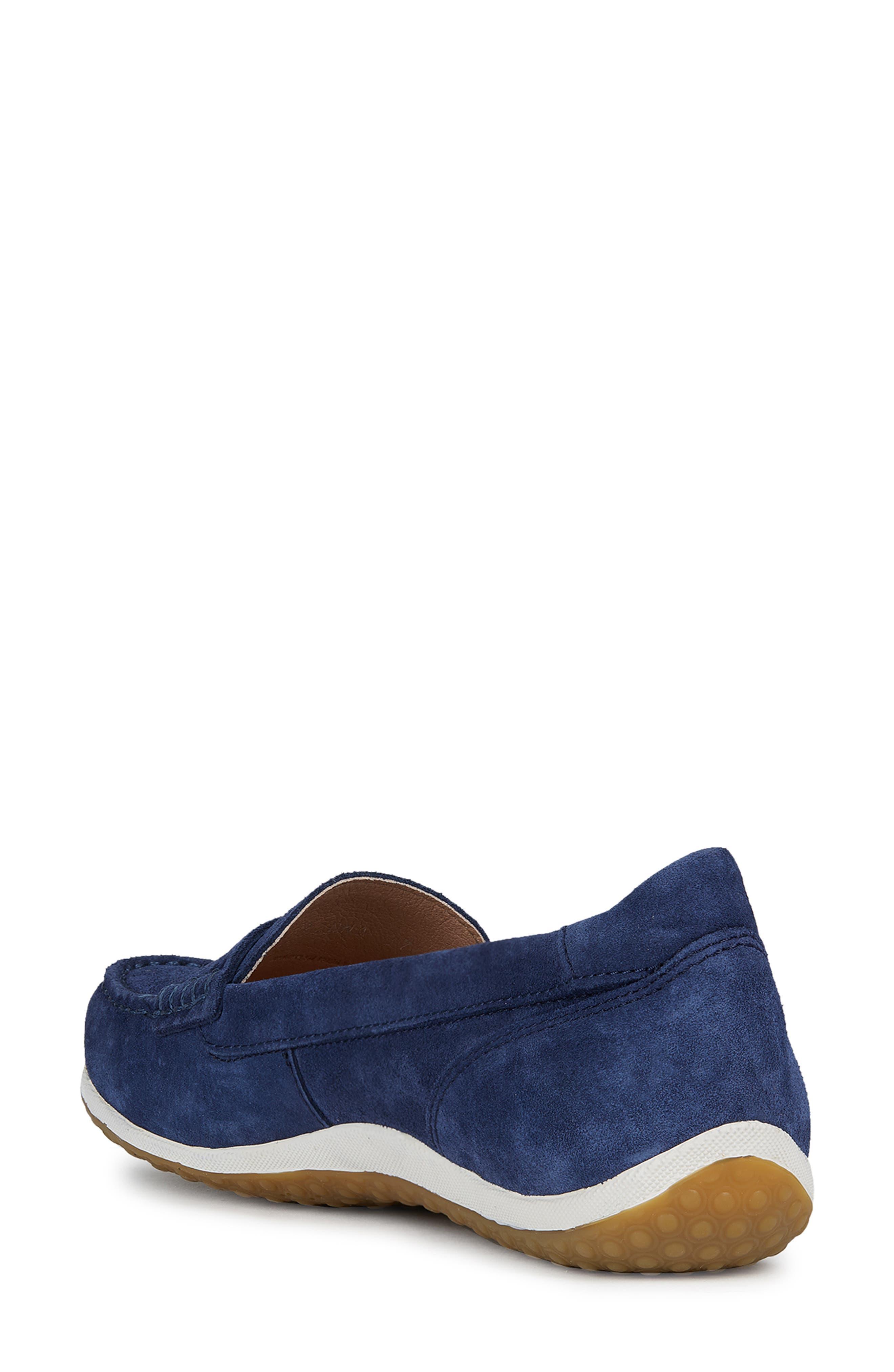 GEOX, Vega Moc Loafer, Alternate thumbnail 2, color, BLUE SUEDE