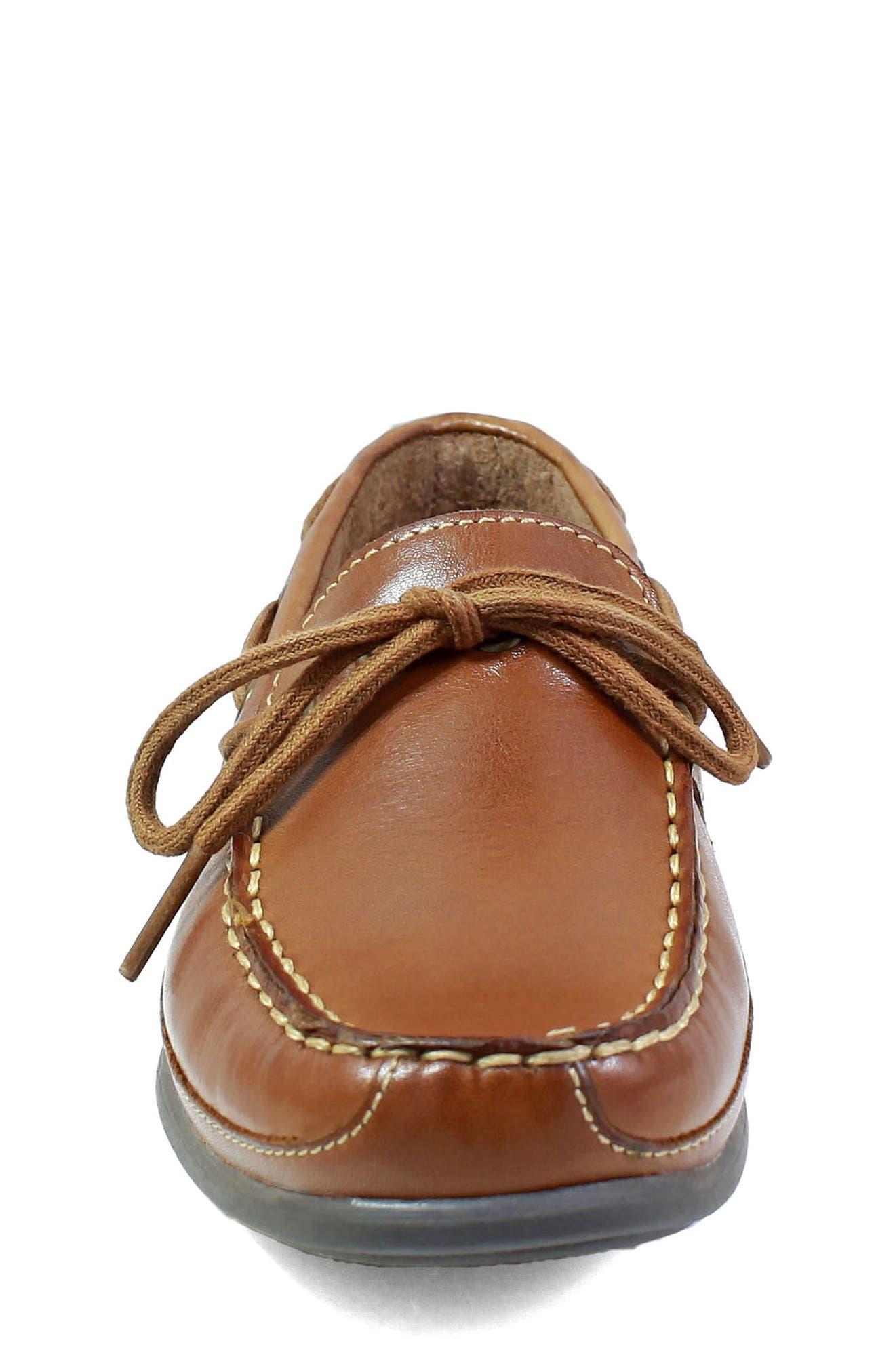 FLORSHEIM, Jasper Boat Shoe, Alternate thumbnail 4, color, SADDLE TAN