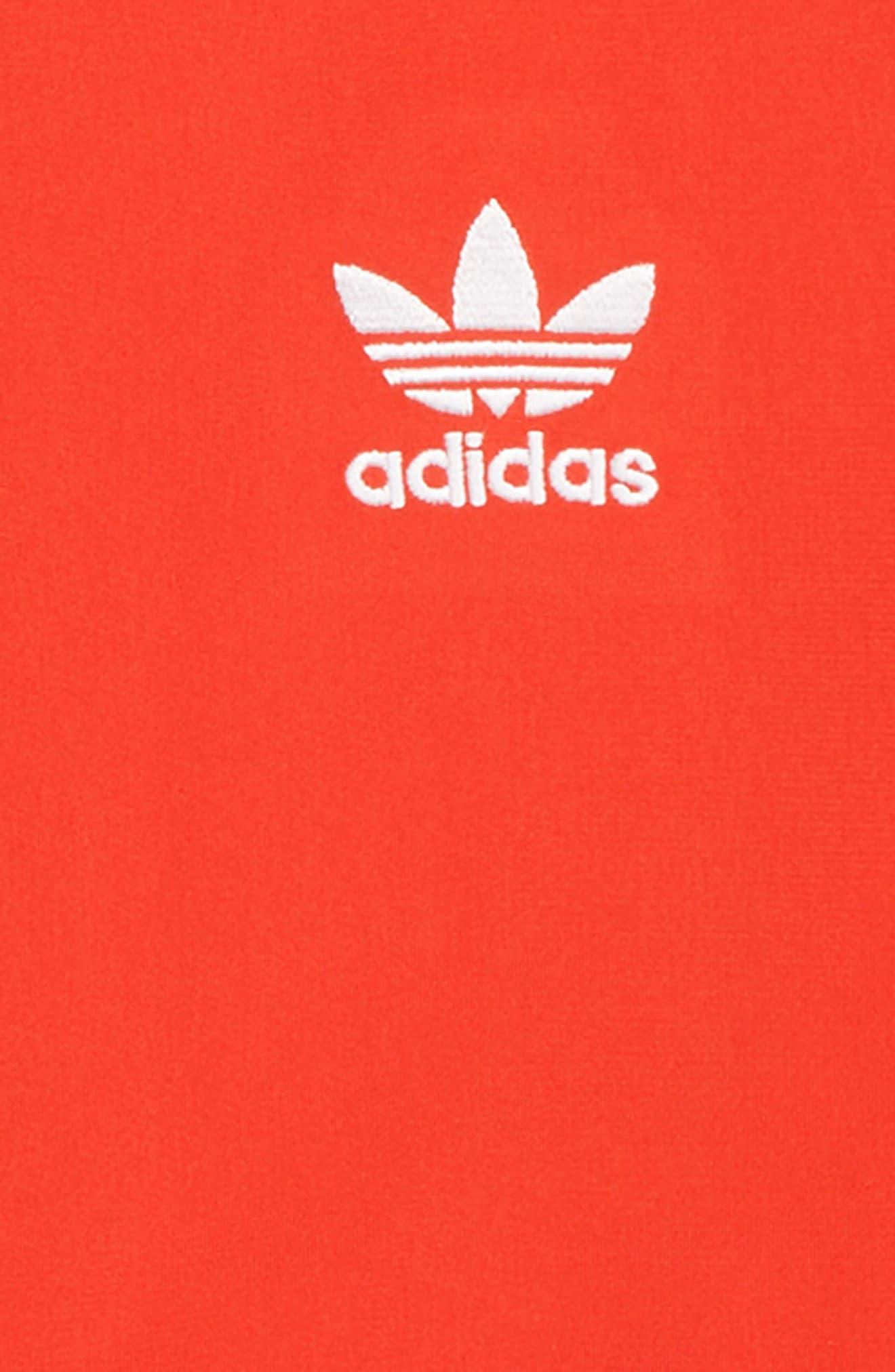 ADIDAS ORIGINALS, V-Day Superstar Jacket, Alternate thumbnail 2, color, ACTIVE RED