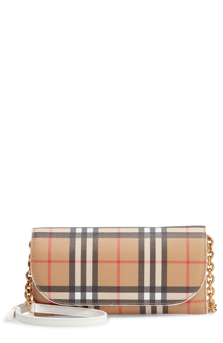 c44dfd592a5e Burberry Henley Vintage Check Wallet on a Chain