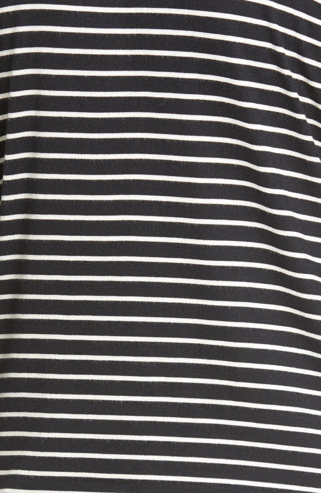 AMOUR VERT, 'Melinda' Stripe Tie Hem Top, Alternate thumbnail 2, color, AMSTERDAM STRIPE
