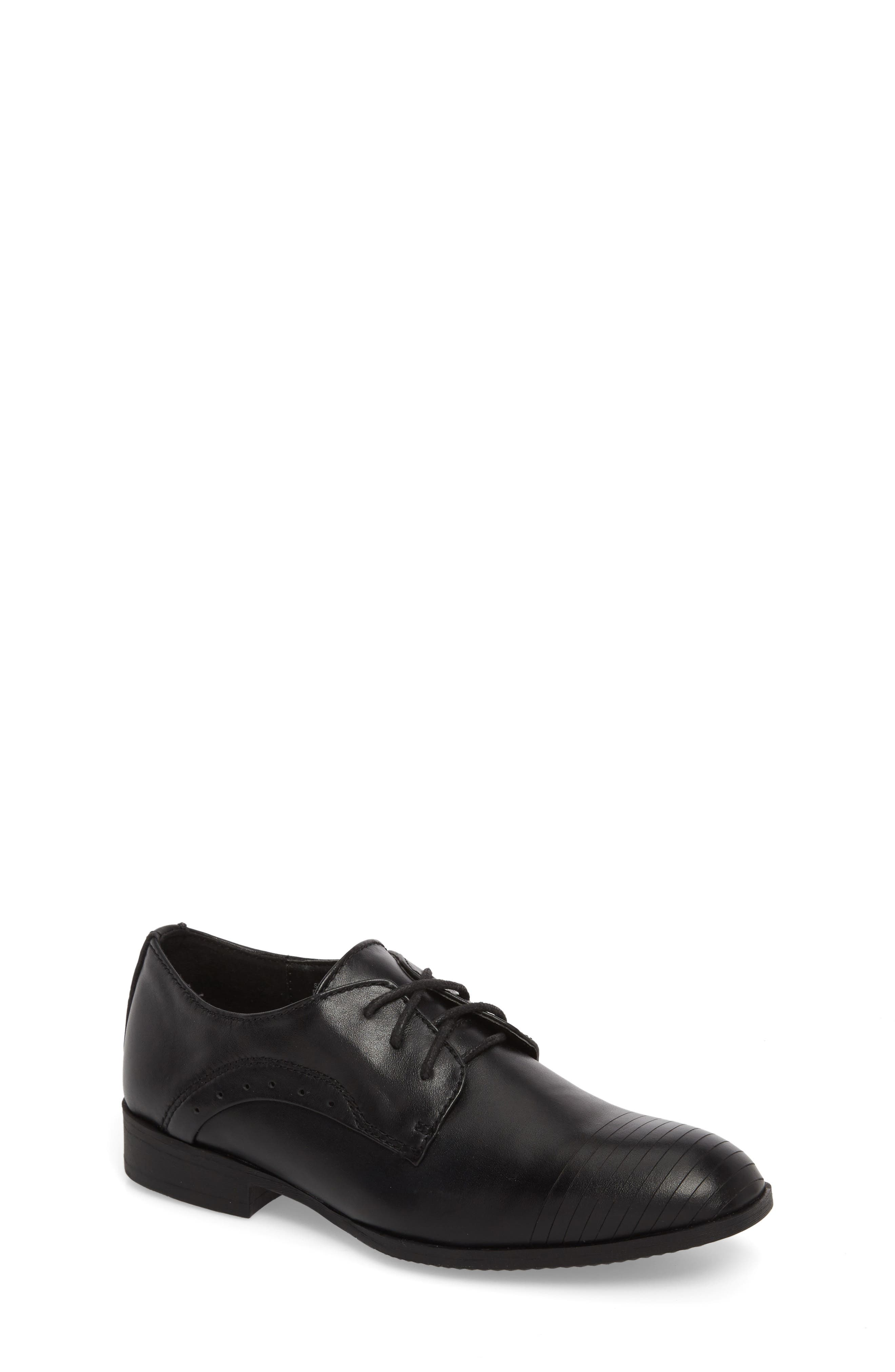 REACTION KENNETH COLE Straight Line Derby, Main, color, BLACK